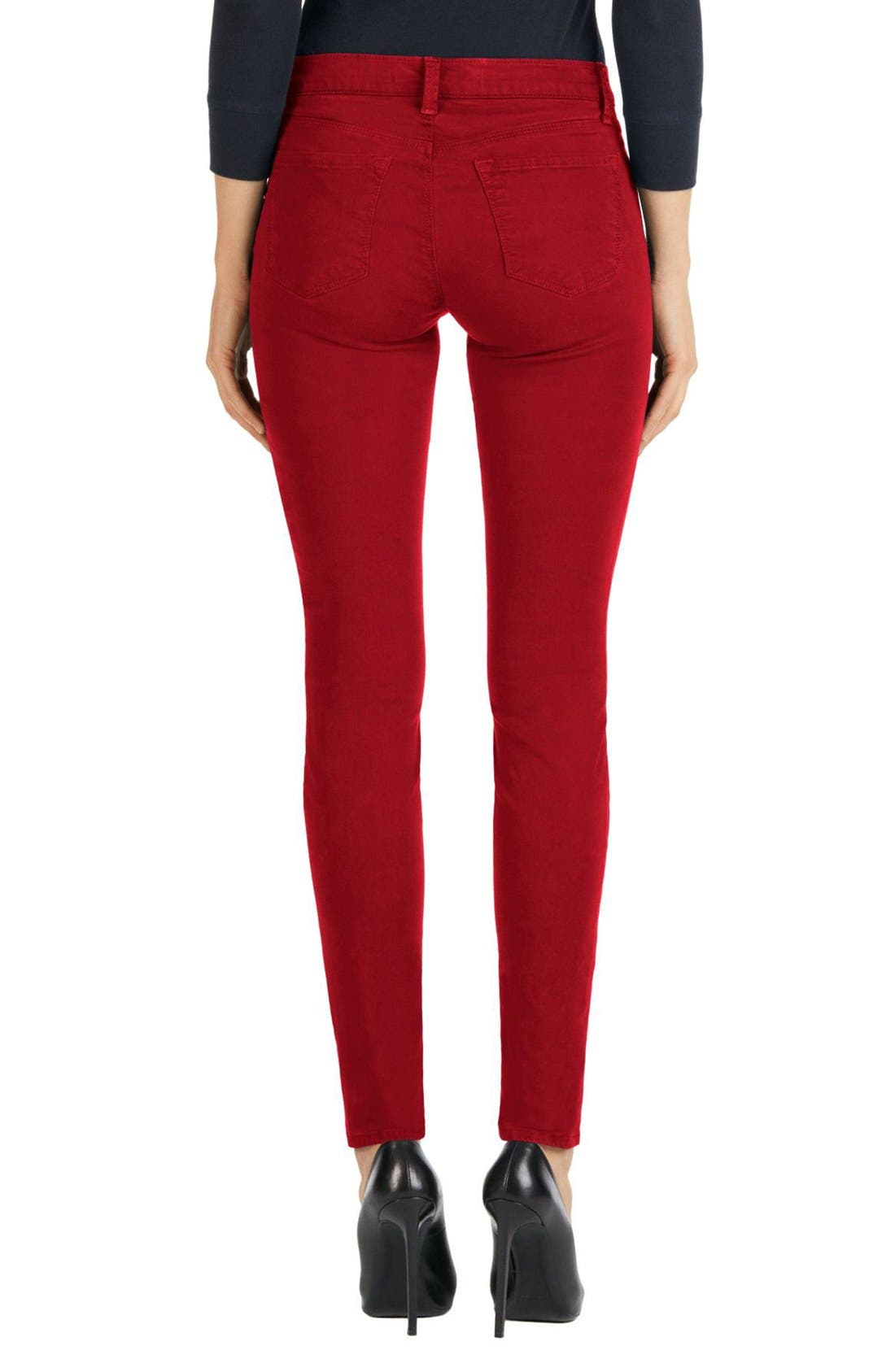 High Waist Ankle Super Skinny Jeans,                             Alternate thumbnail 38, color,