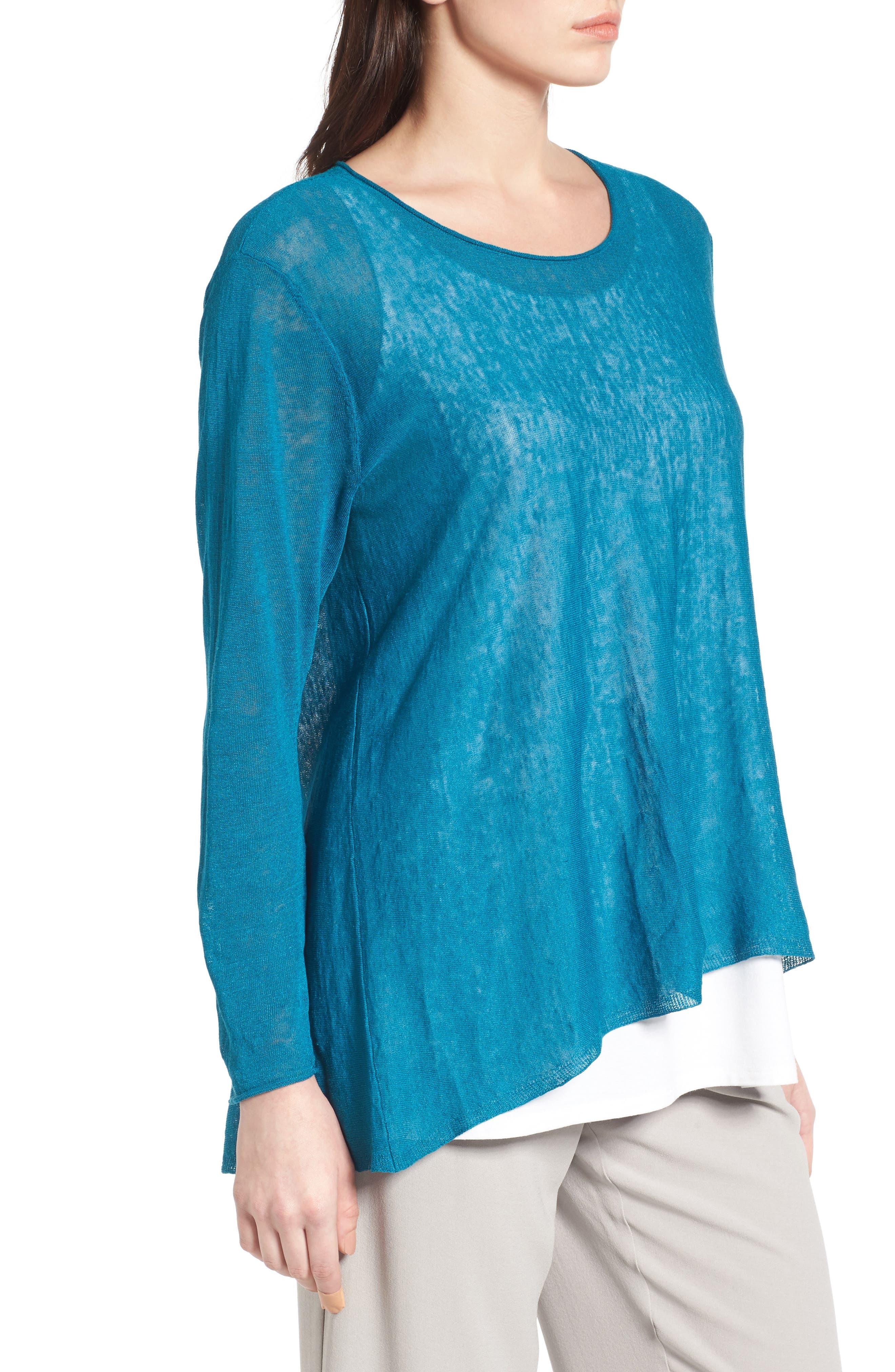 Organic Linen Blend Swing Sweater,                             Alternate thumbnail 26, color,