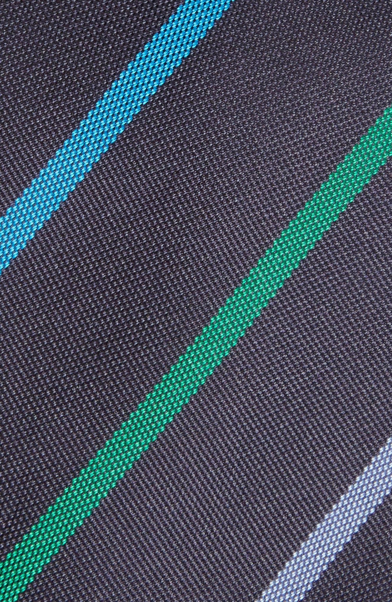 Stripe Silk Skinny Tie,                             Alternate thumbnail 2, color,                             415