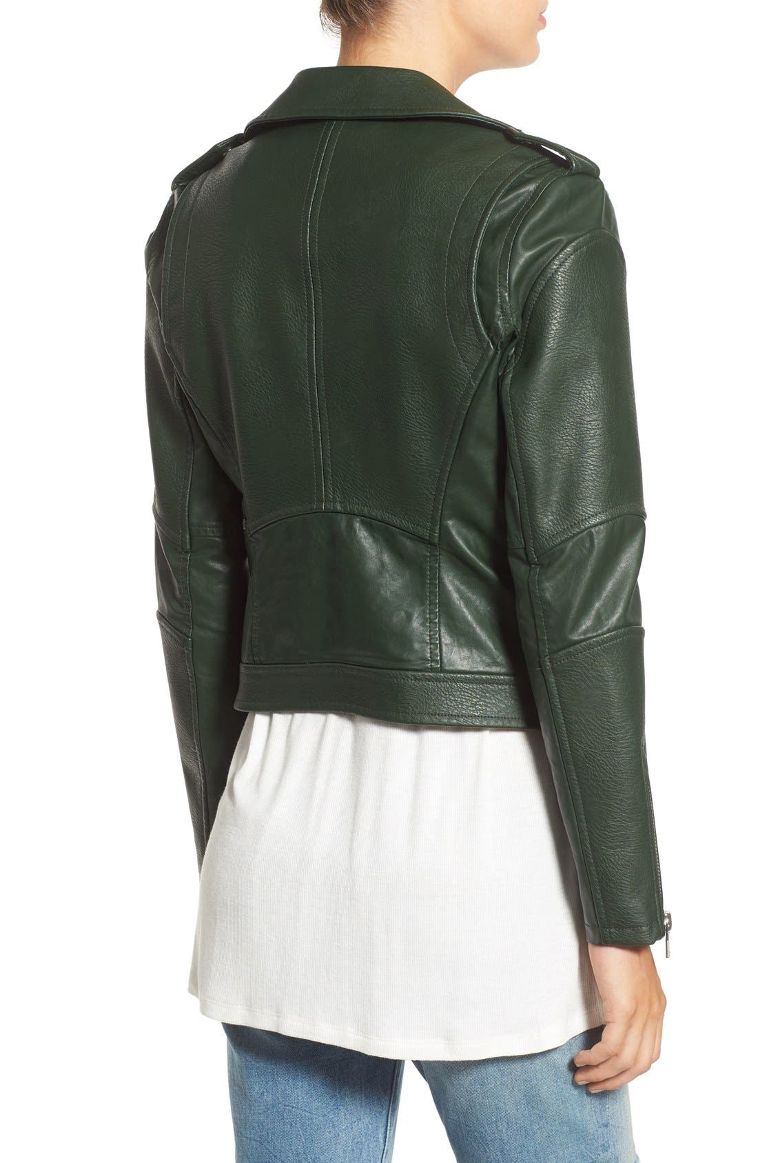 'Easy Rider' Faux Leather Moto Jacket,                             Alternate thumbnail 11, color,