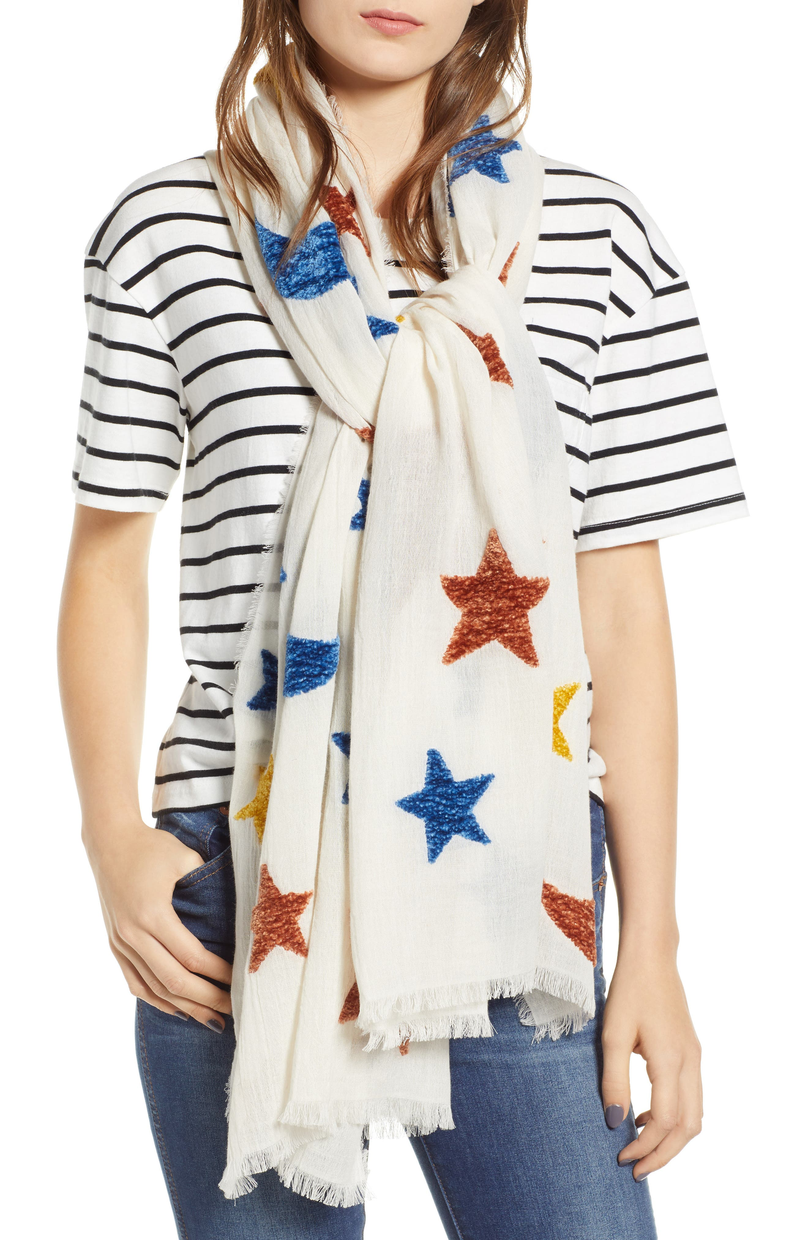 Starry Night Chenille Scarf,                             Main thumbnail 1, color,                             100