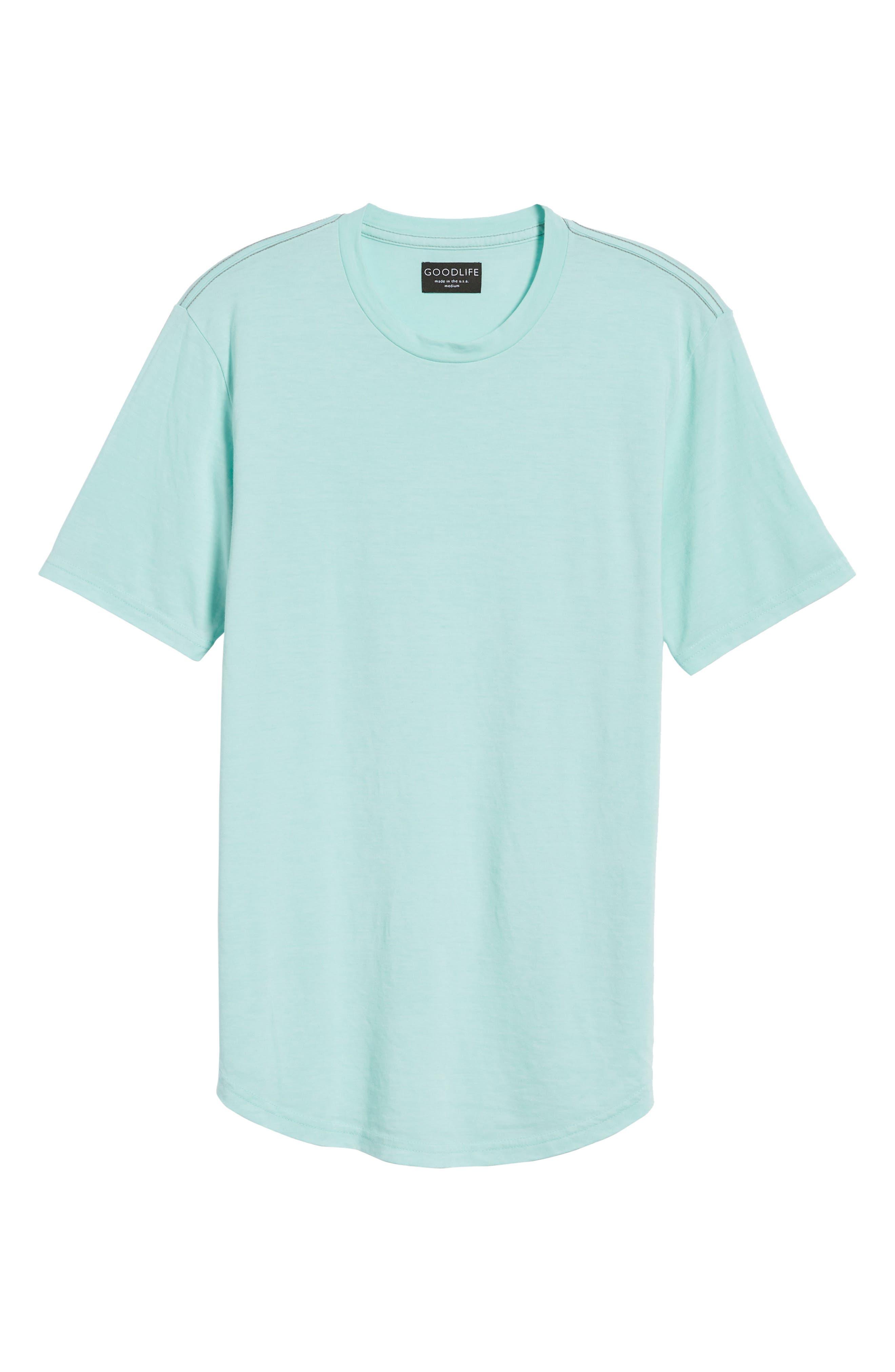 Scallop Triblend Crewneck T-Shirt,                             Alternate thumbnail 125, color,