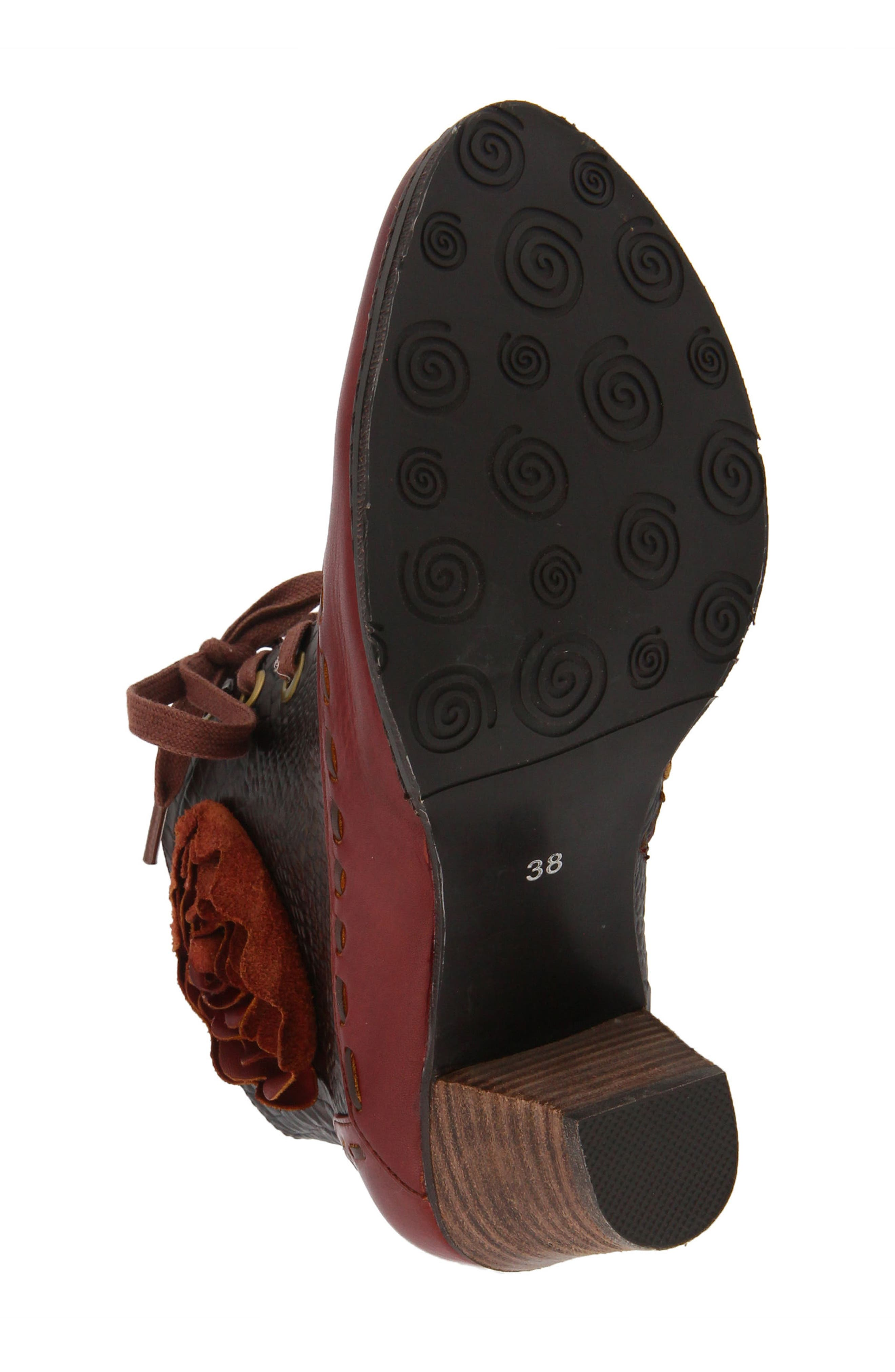 L'Artiste Sufi Bootie,                             Alternate thumbnail 5, color,                             BORDEAUX LEATHER