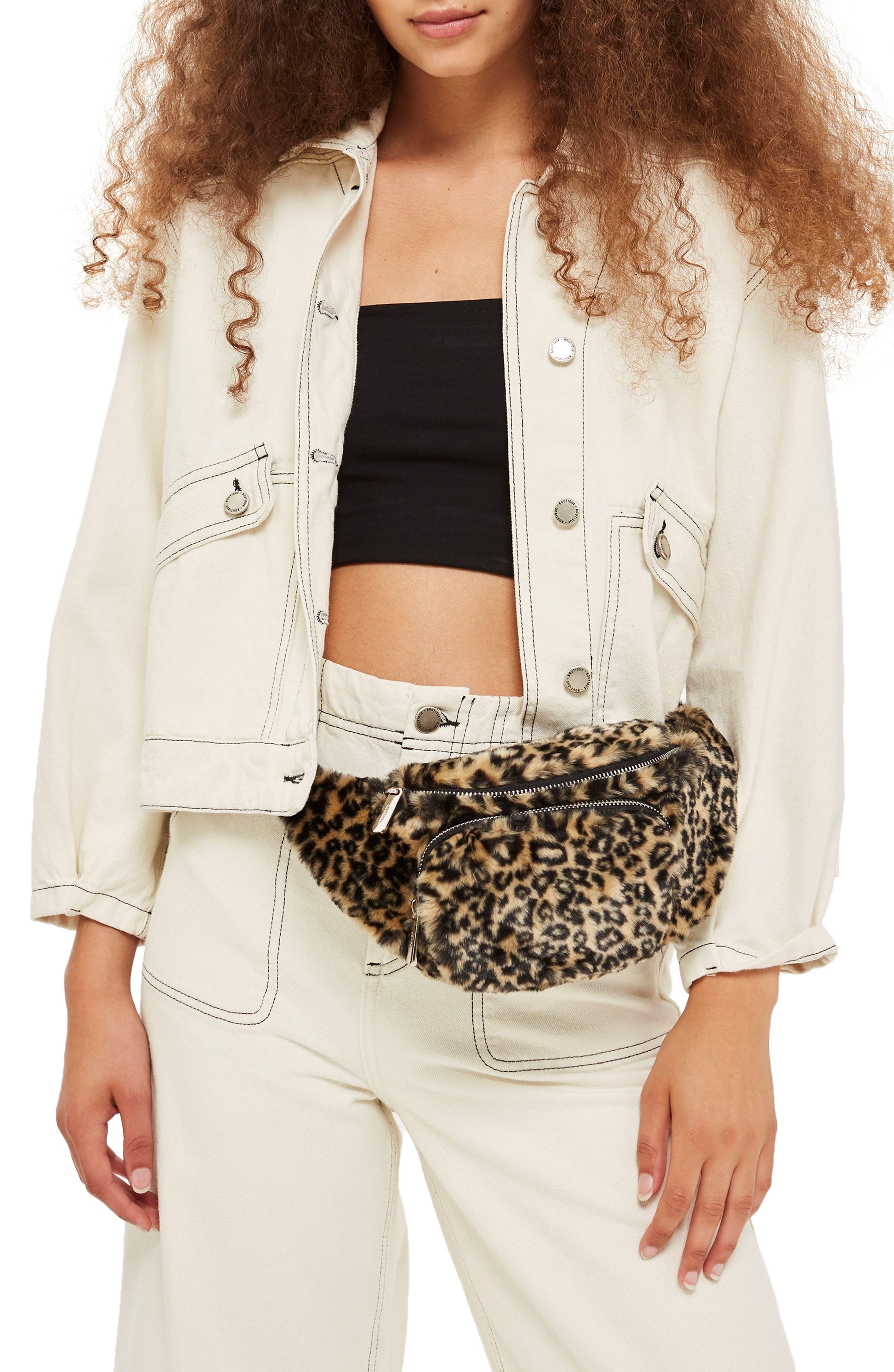 Baxter Leopard Belt Bag,                             Alternate thumbnail 2, color,                             211