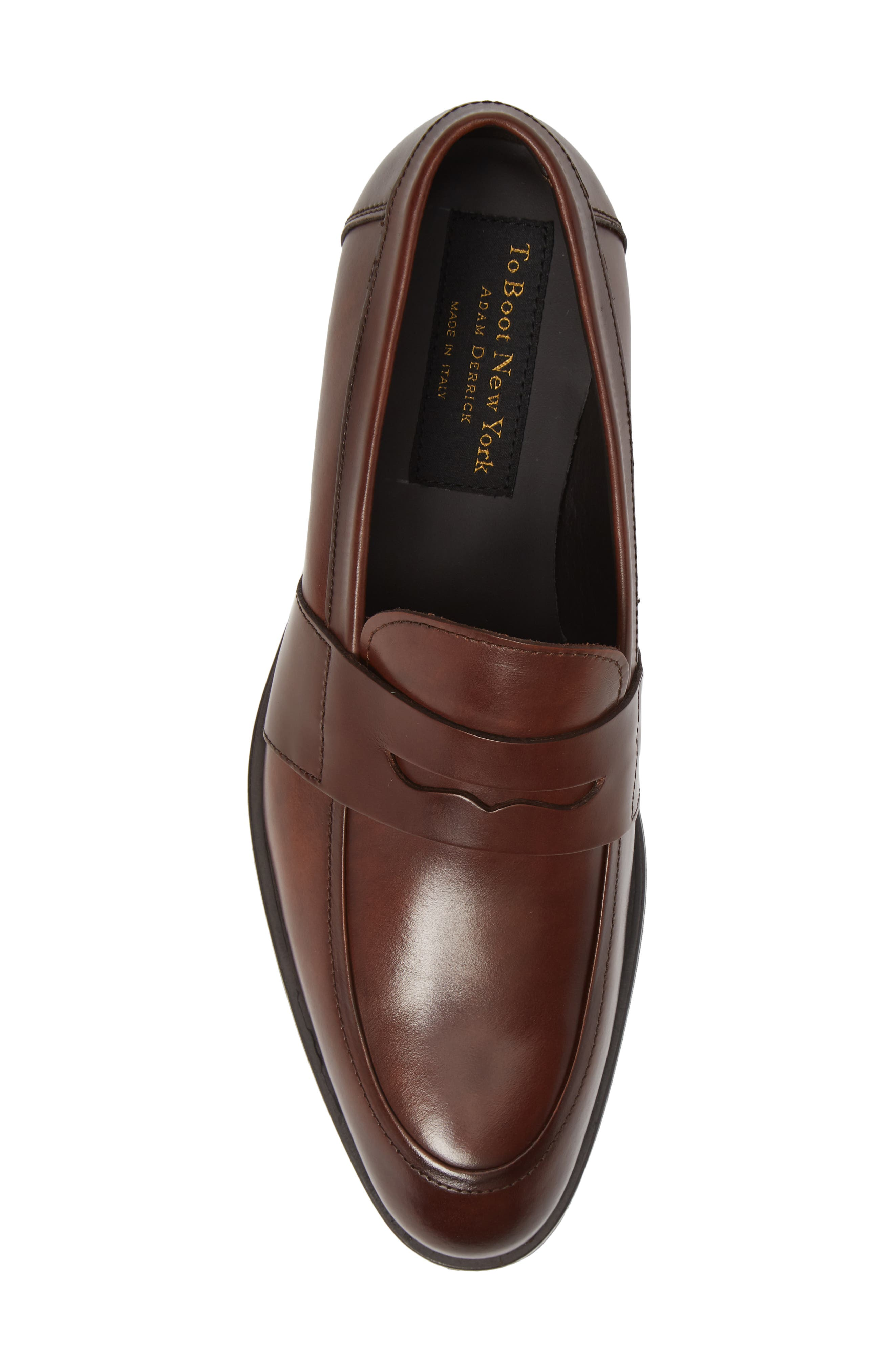 Devries Penny Loafer,                             Alternate thumbnail 5, color,                             VITELLO BRUCIATO LEATHER