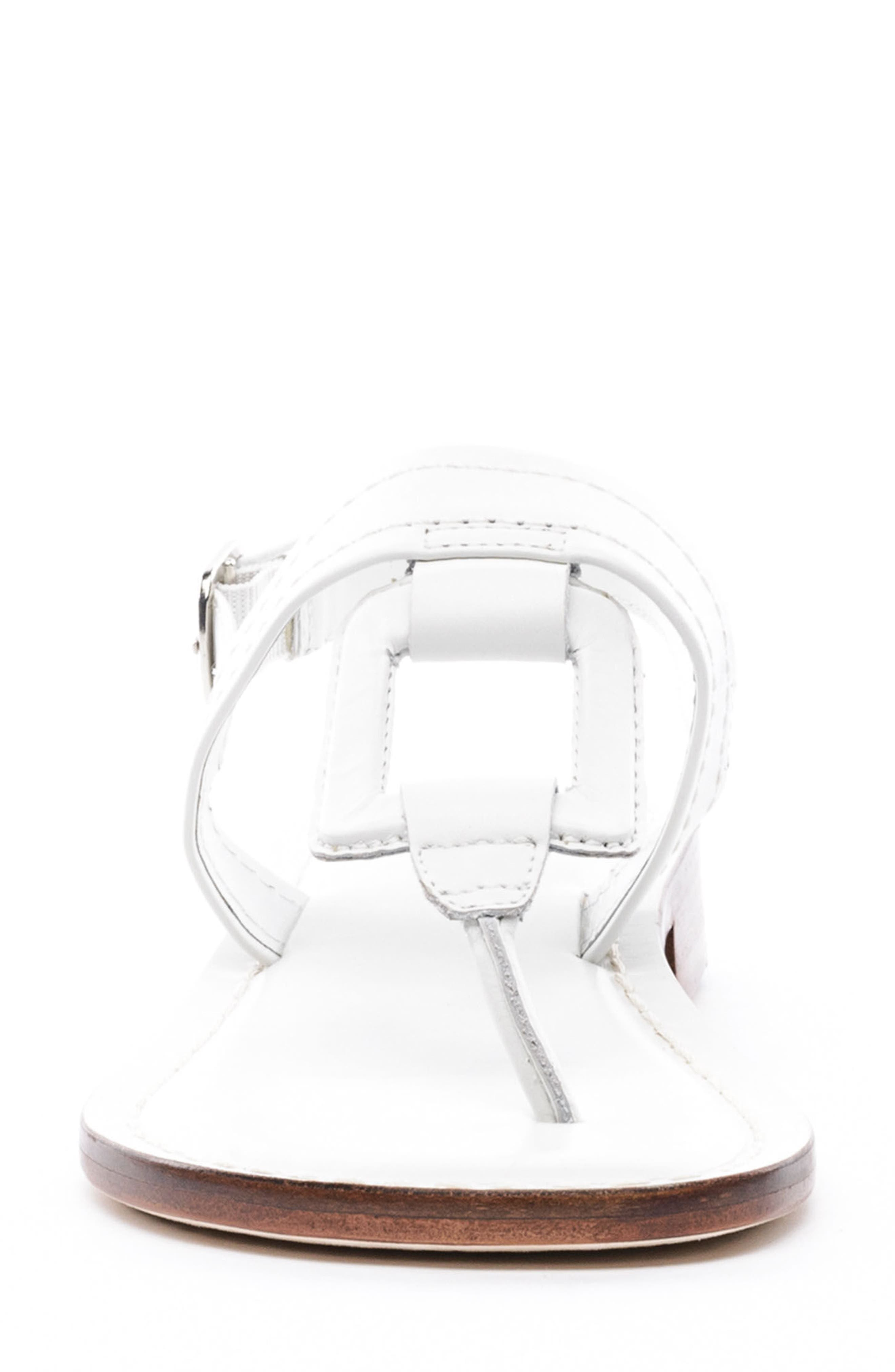 Bernardo Tegan Sandal,                             Alternate thumbnail 4, color,                             WHITE LEATHER