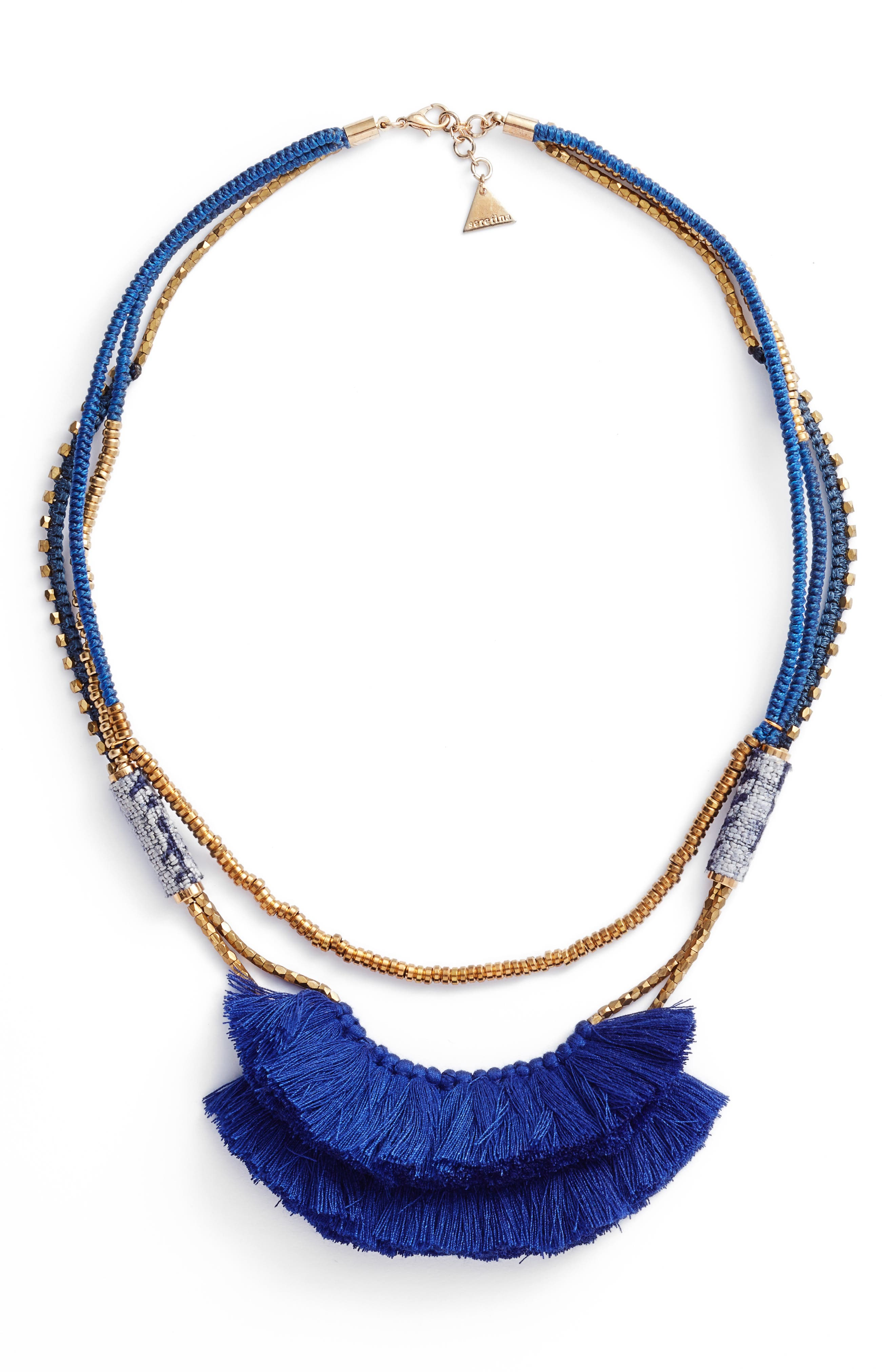 Tassel Statement Necklace,                             Main thumbnail 1, color,
