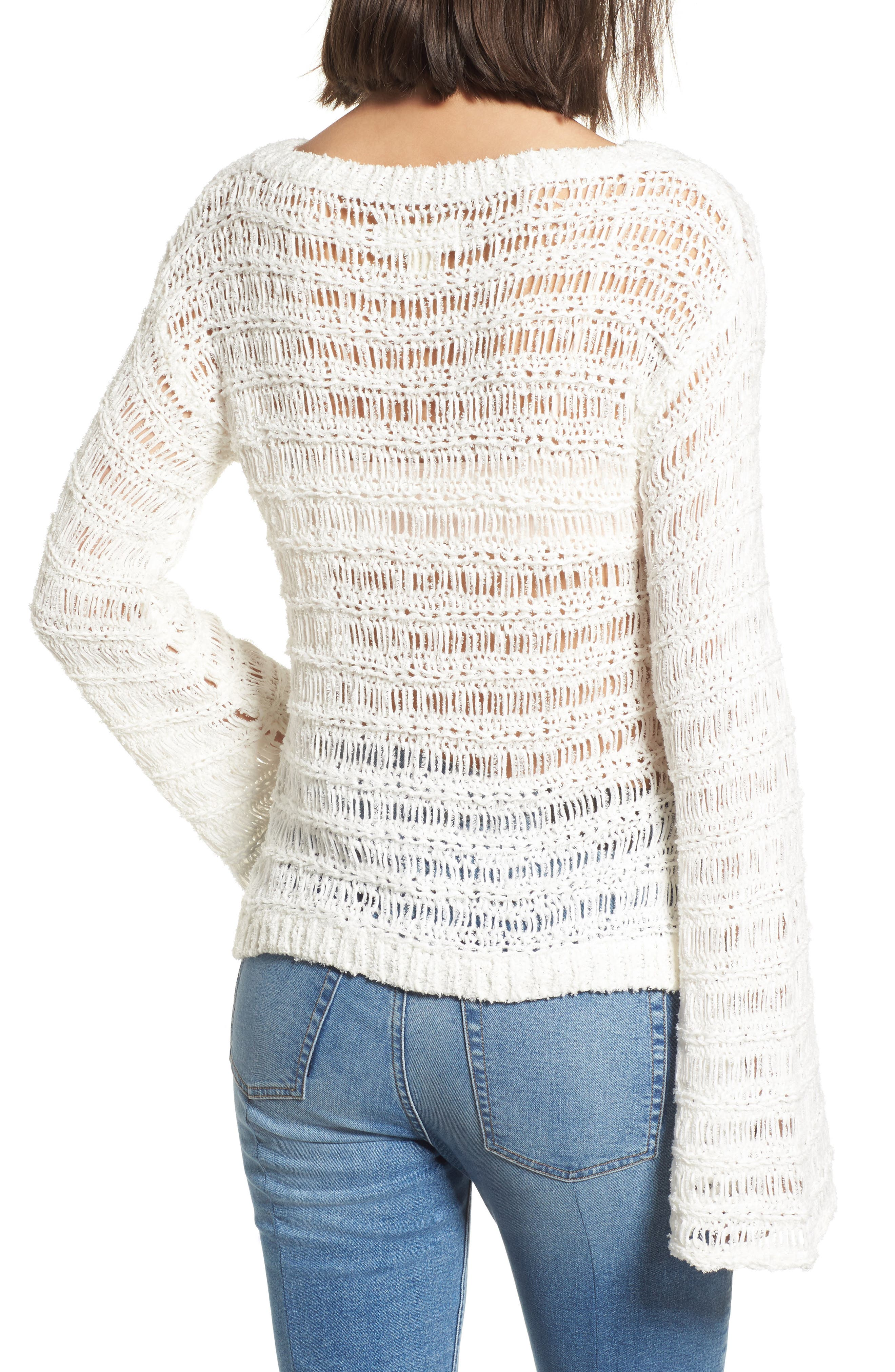Ladder Stitch Sweater,                             Alternate thumbnail 2, color,                             900