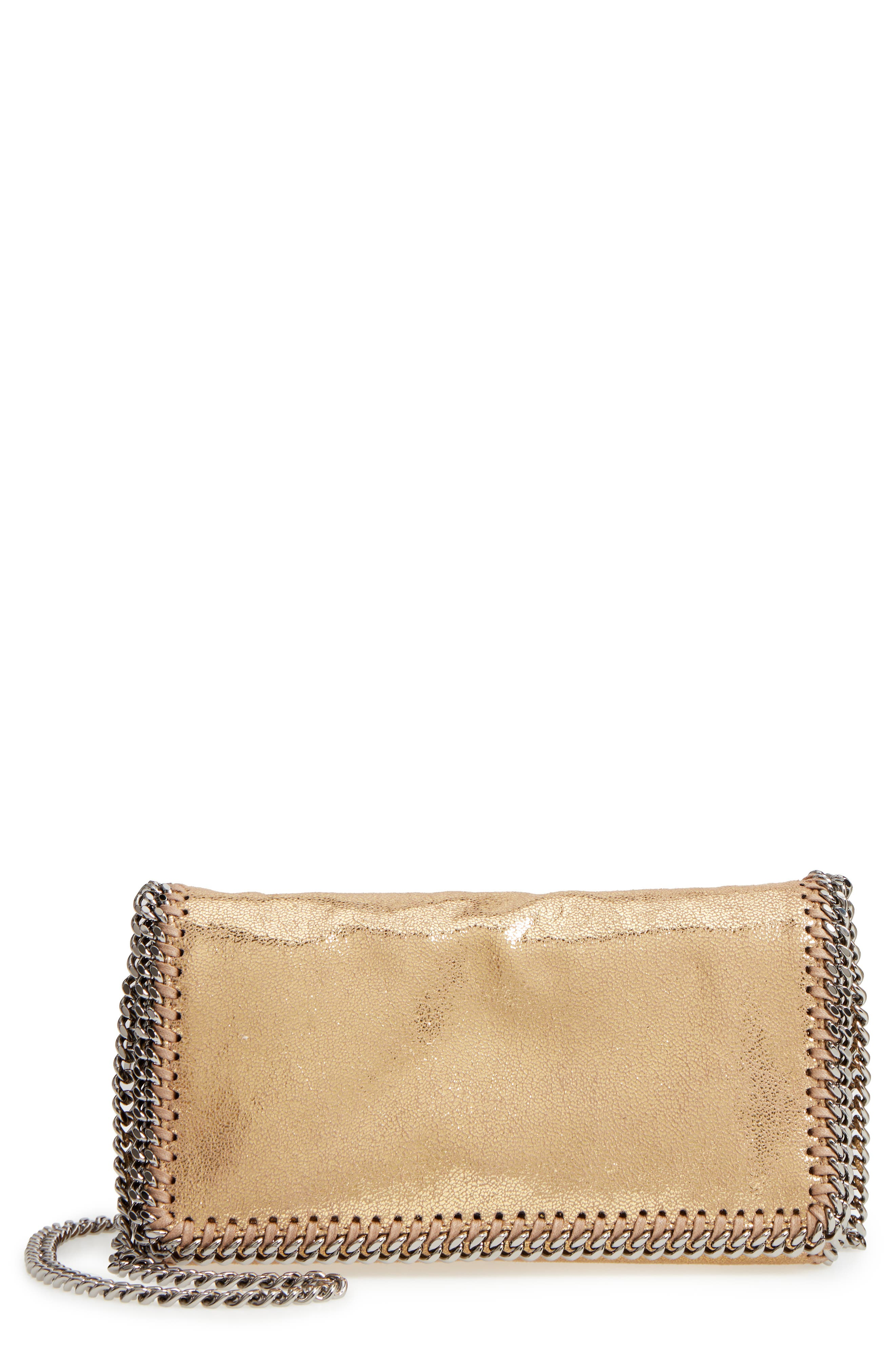 'Falabella' Crossbody Bag,                         Main,                         color, GOLD