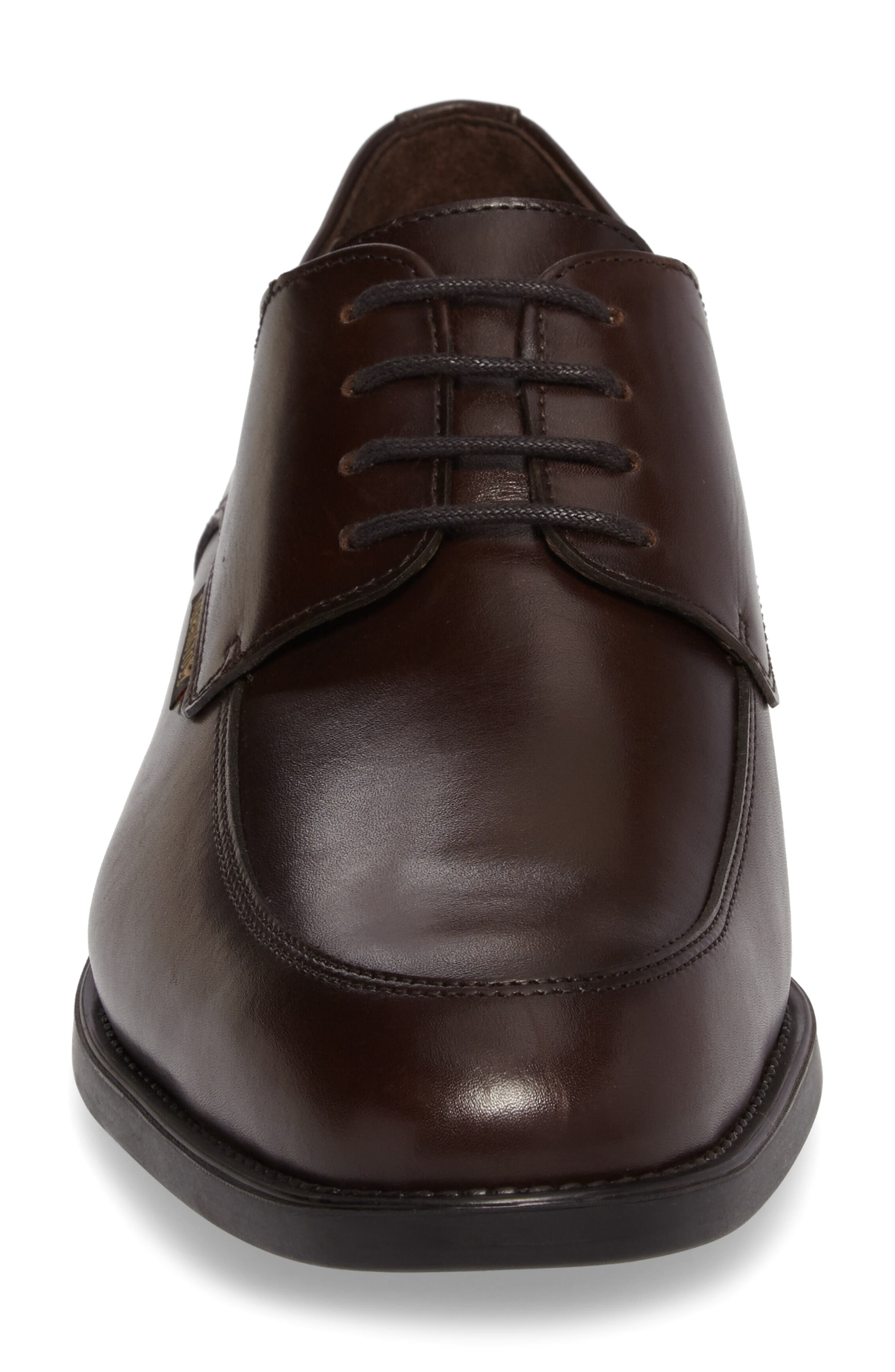 Carlo Moc Toe Derby,                             Alternate thumbnail 4, color,                             DARK BROWN LEATHER