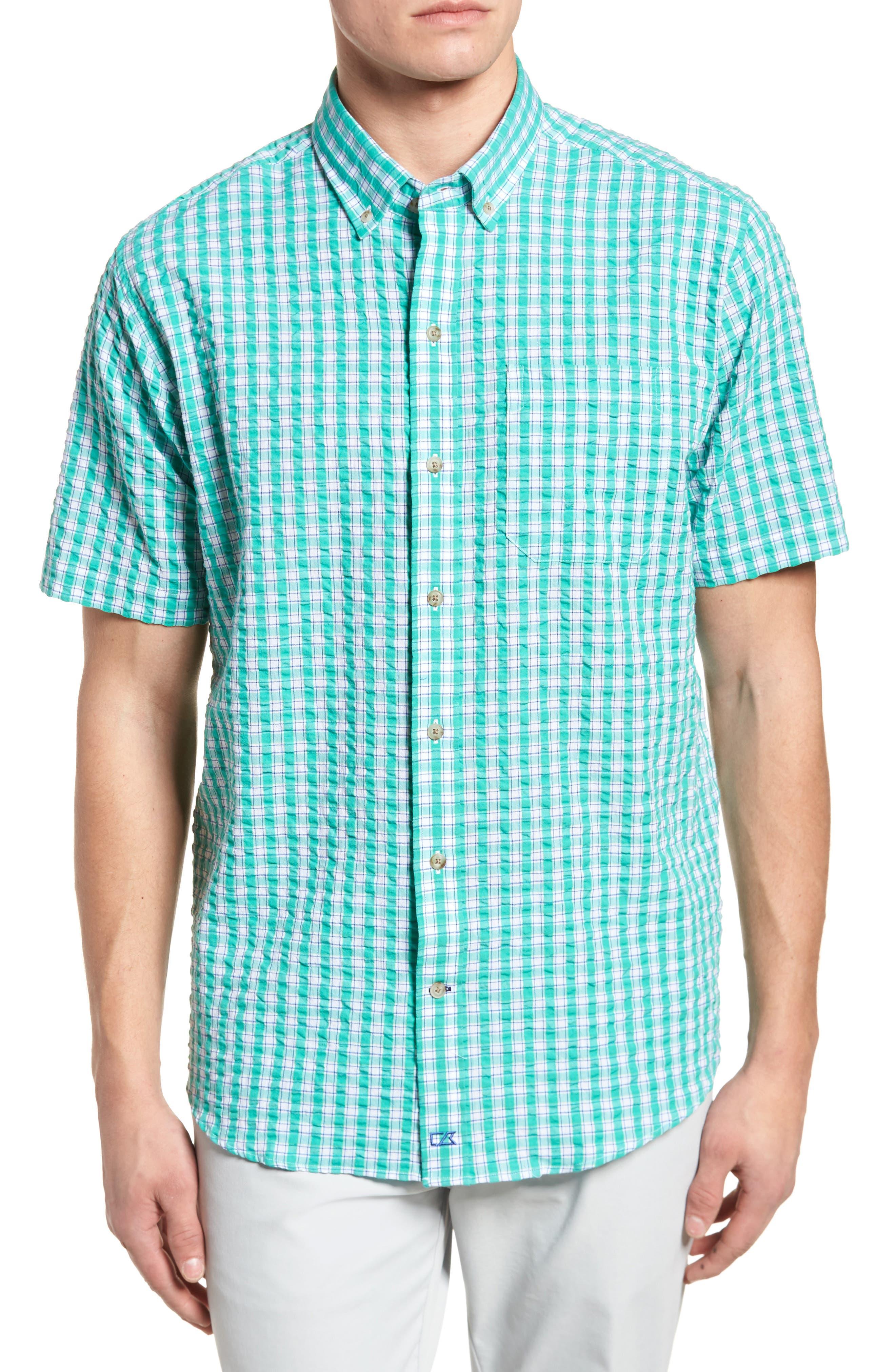 Tyler Seersucker Woven Shirt,                             Main thumbnail 1, color,                             328