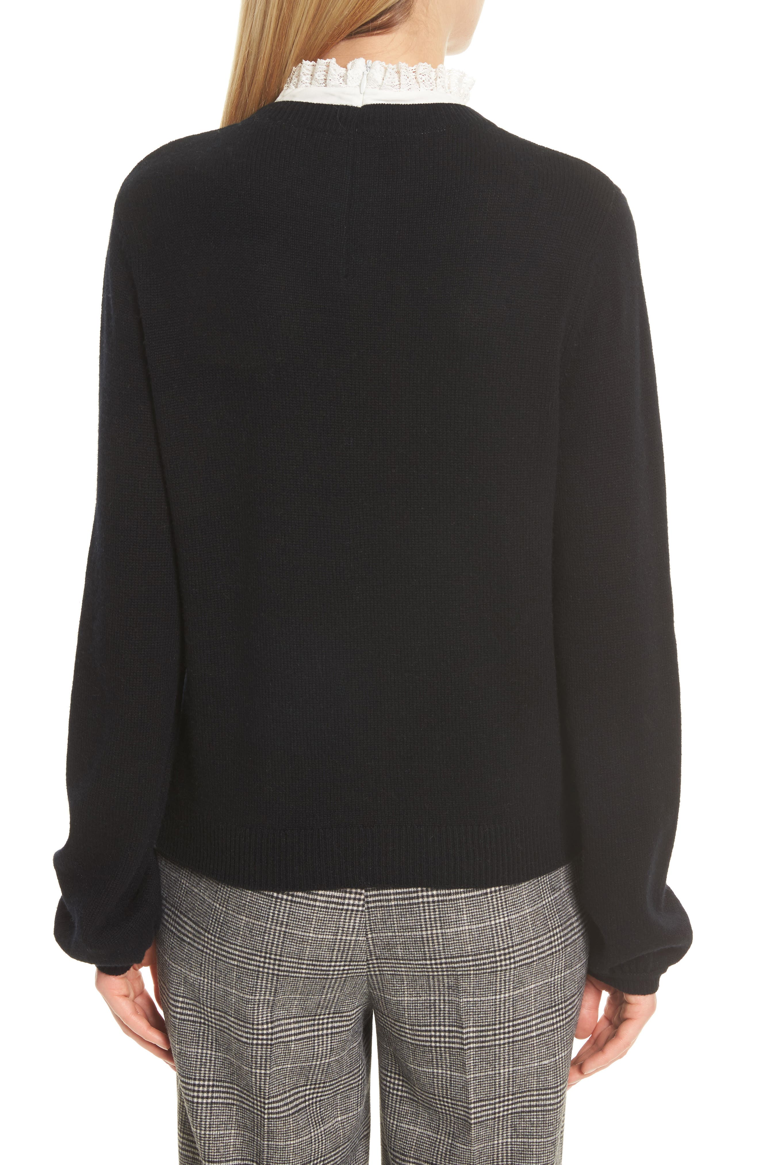 Affie Wool & Cashmere Sweater,                             Alternate thumbnail 3, color,