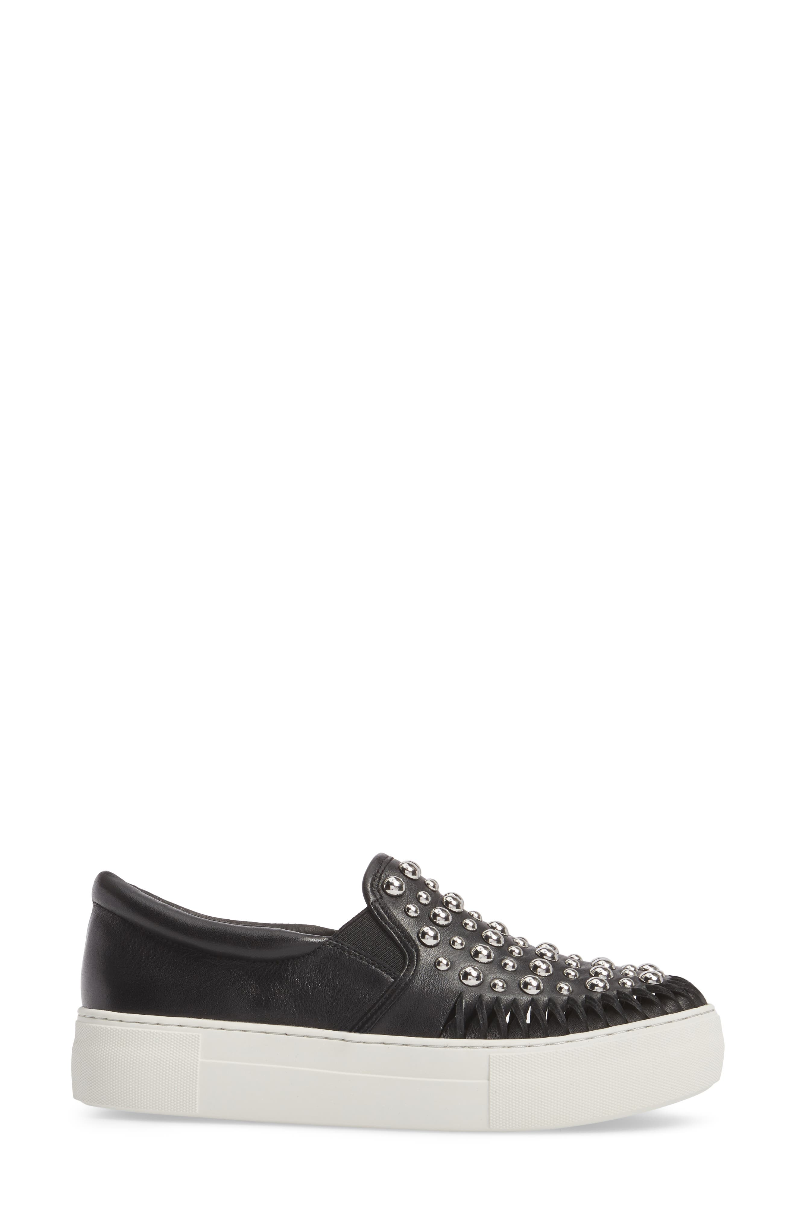 AZT Studded Slip-On Sneaker,                             Alternate thumbnail 3, color,                             015