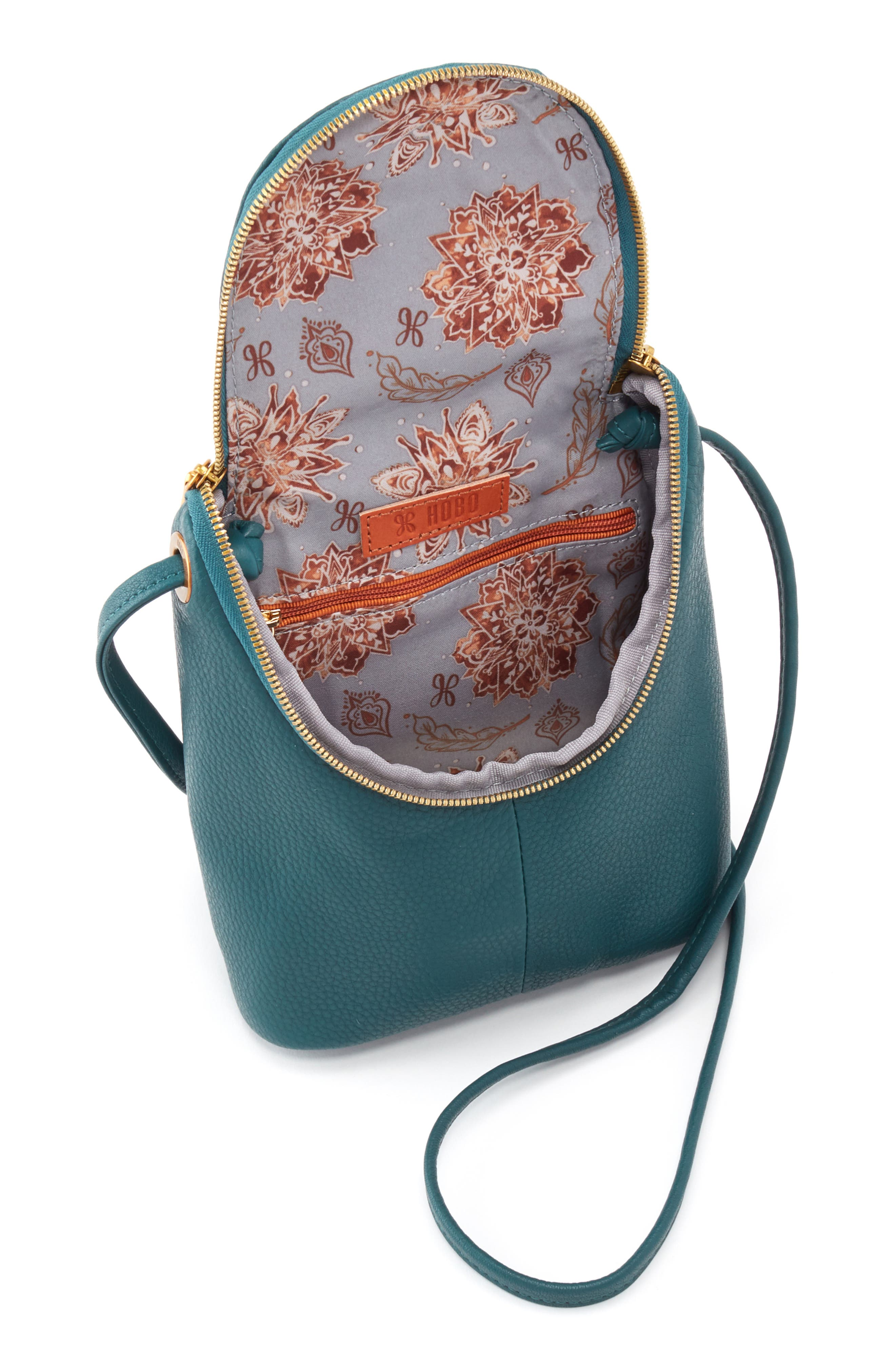 Fern Saddle Bag,                             Alternate thumbnail 3, color,                             DARK TEAL