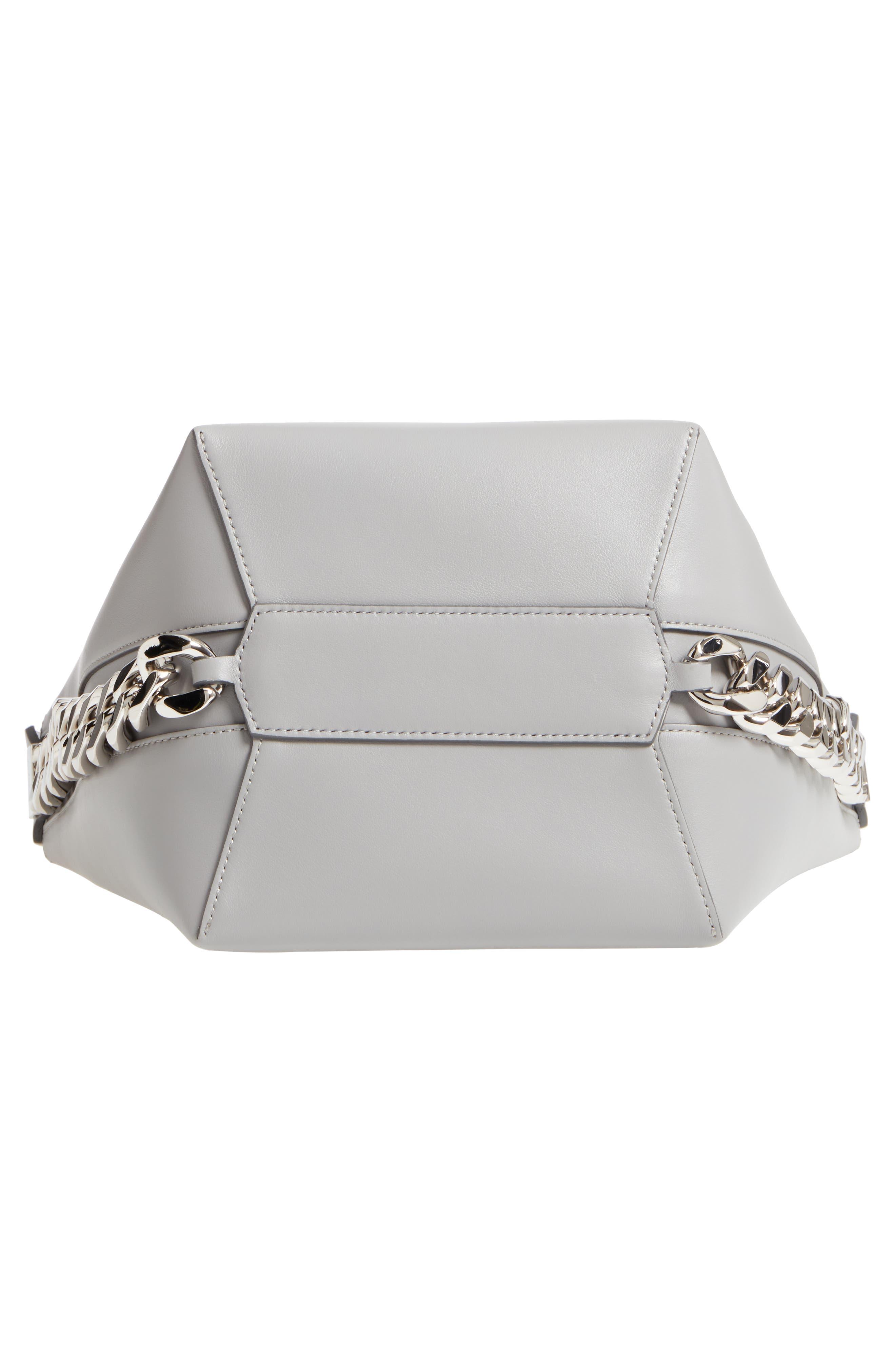 Infinity Calfskin Leather Bucket Bag,                             Alternate thumbnail 6, color,                             051