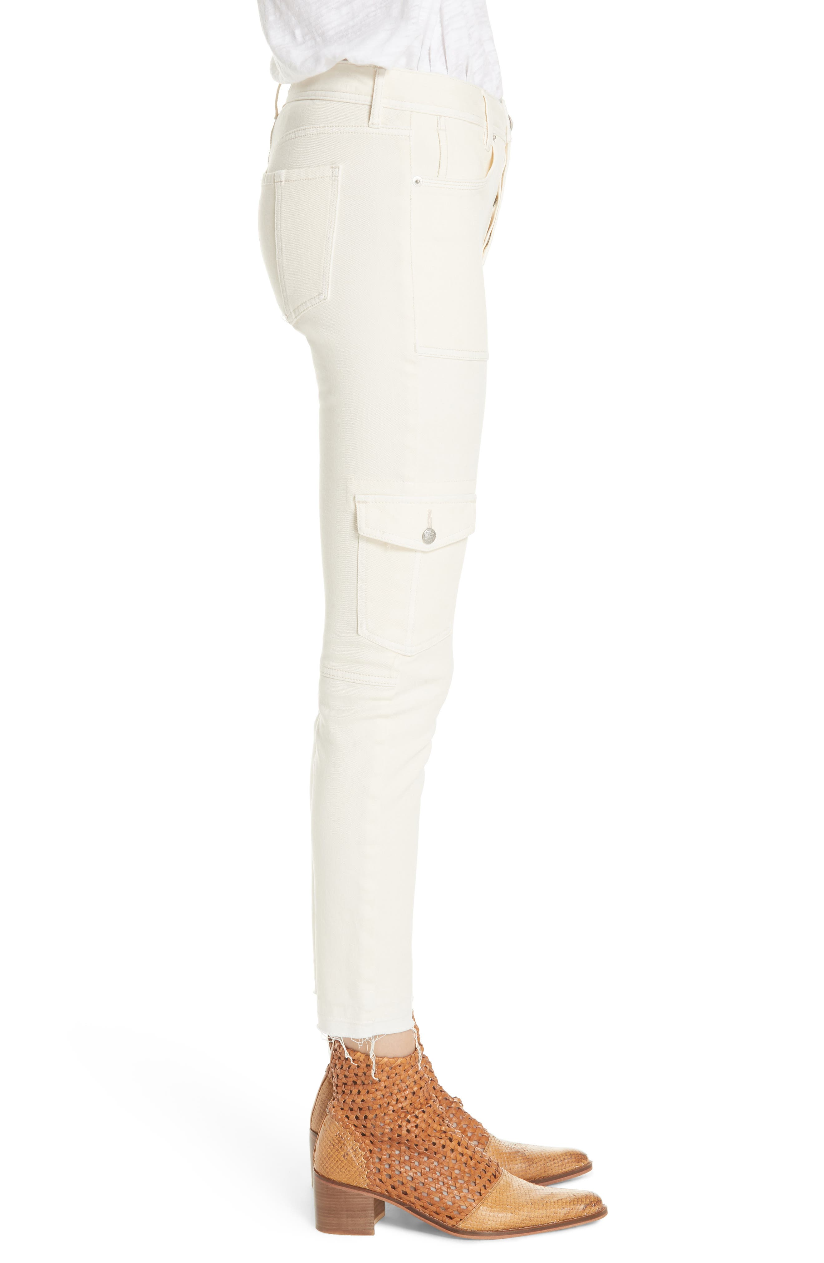 FREE PEOPLE,                             Utility Skinny Jeans,                             Alternate thumbnail 3, color,                             252