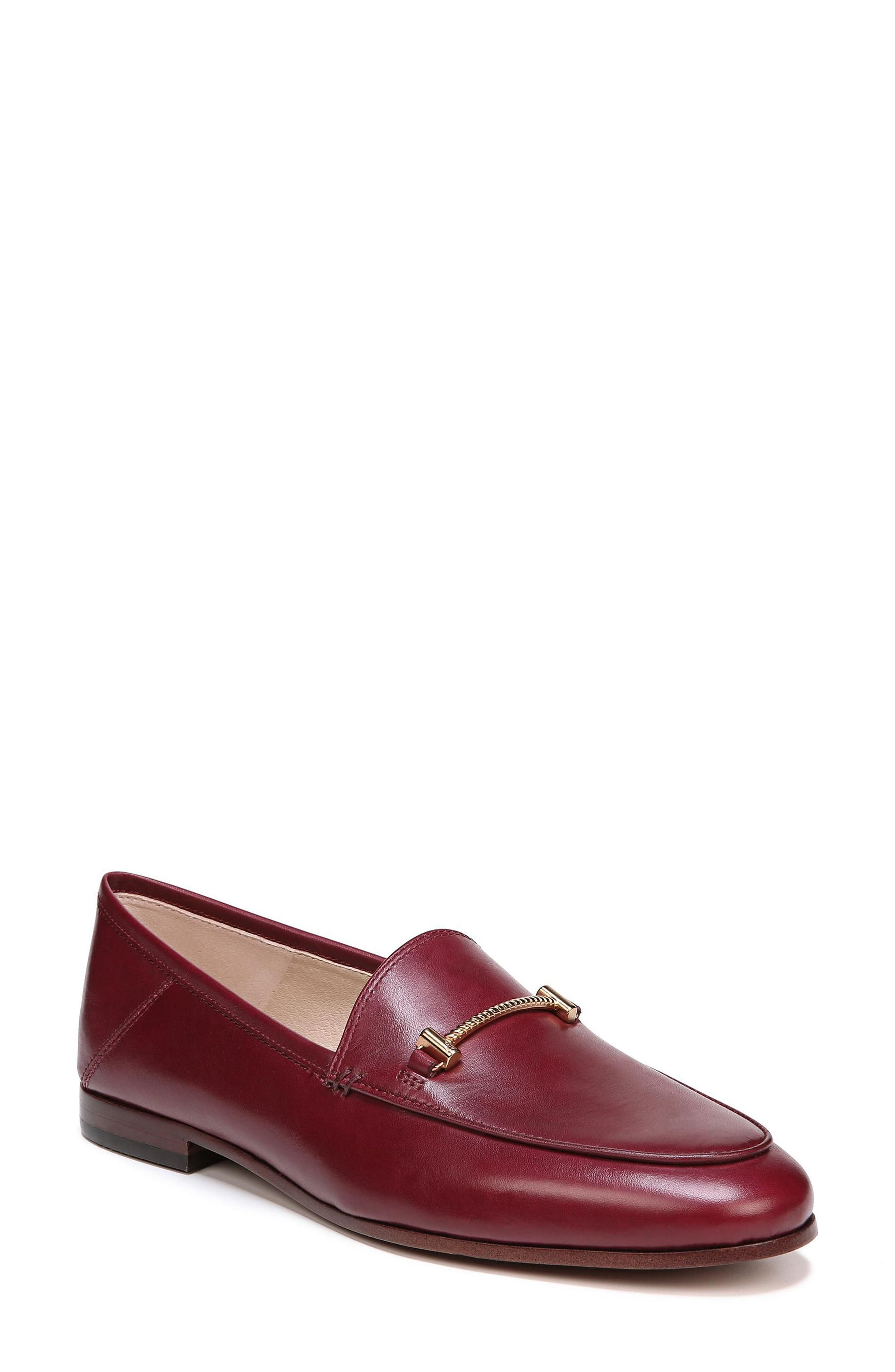 Lior Loafer,                         Main,                         color, BEET RED LEATHER