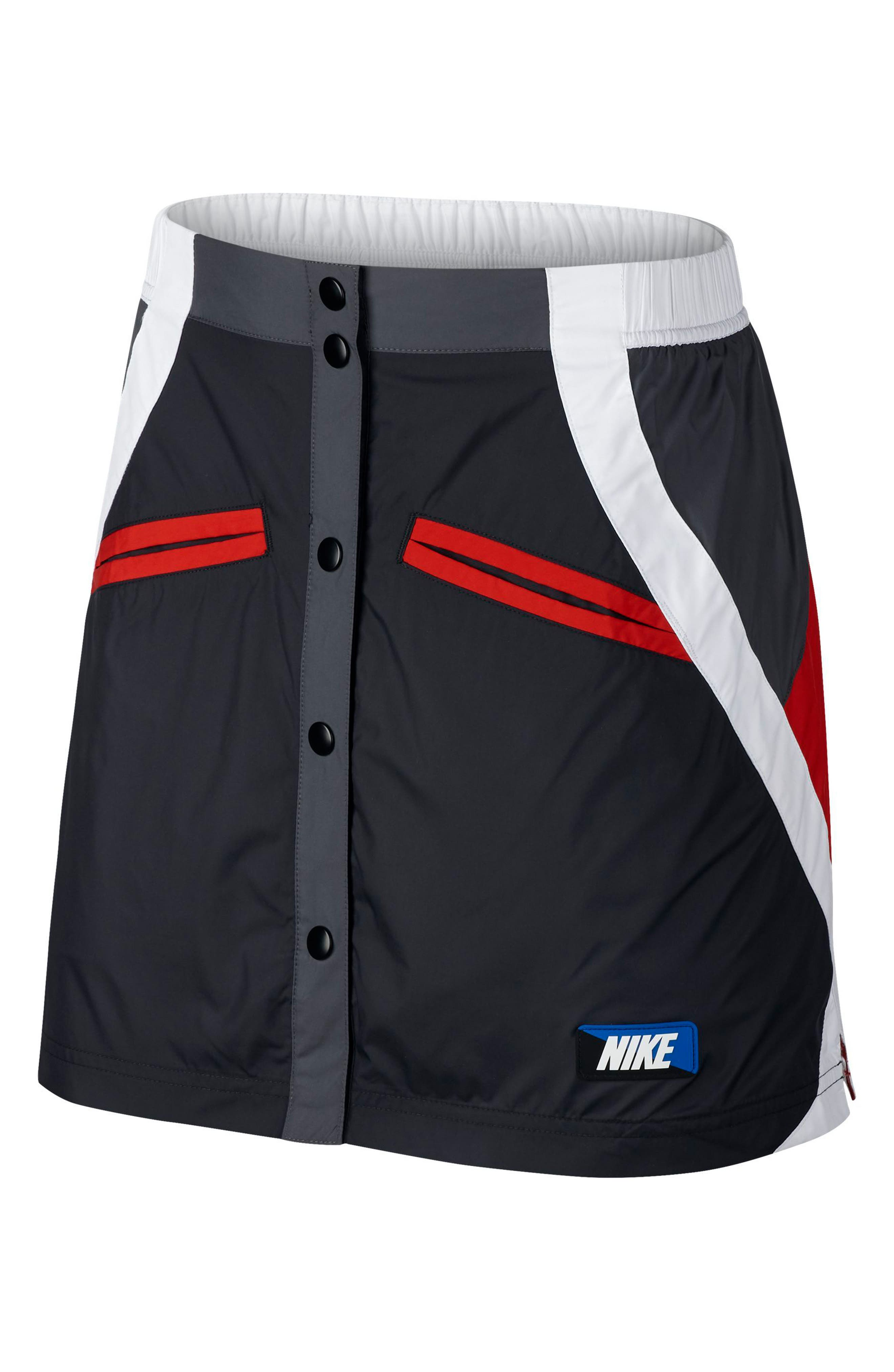 Sportswear Woven Moto Skirt,                             Main thumbnail 1, color,                             001