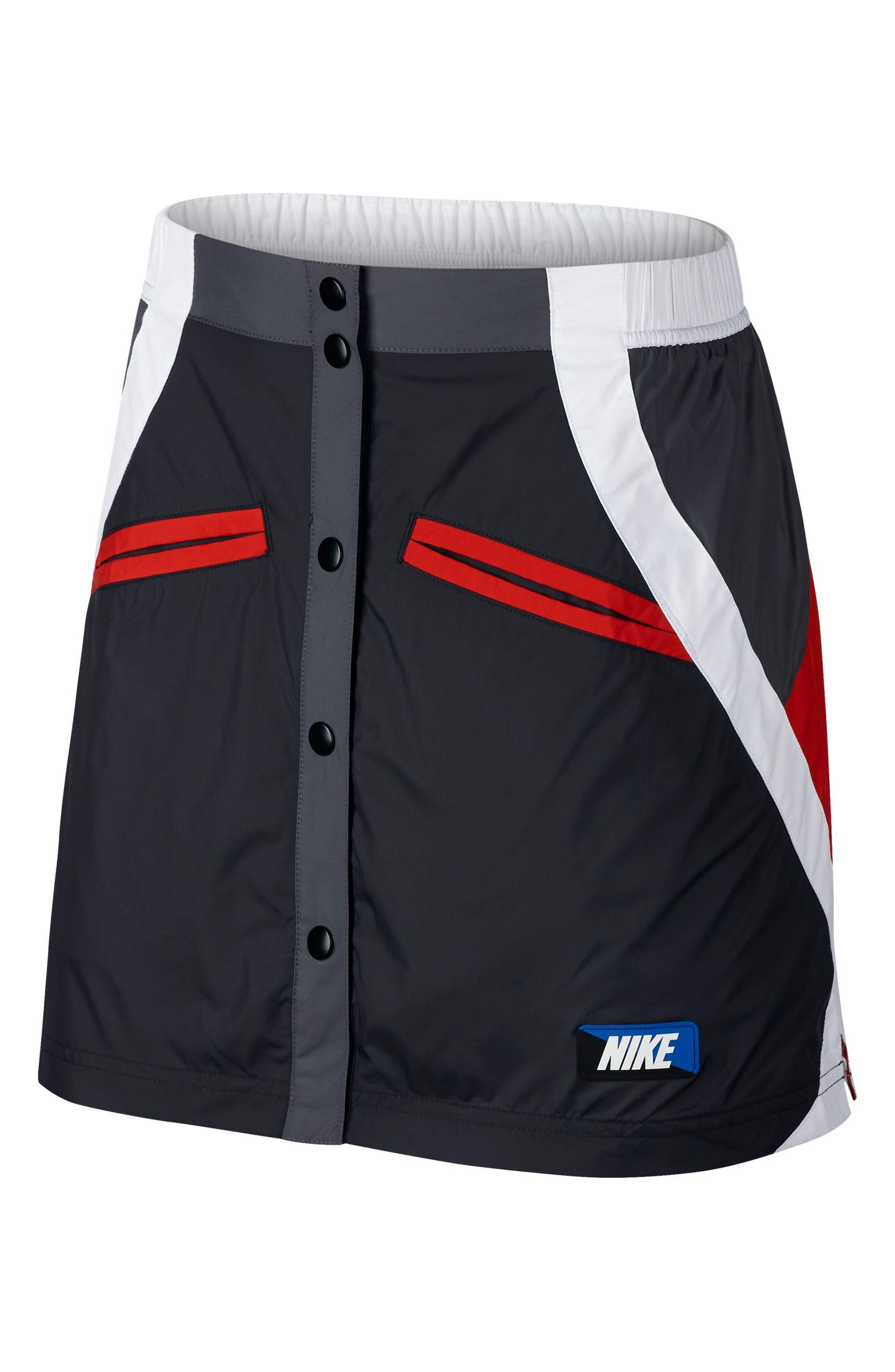 Sportswear Woven Moto Skirt,                         Main,                         color, 001