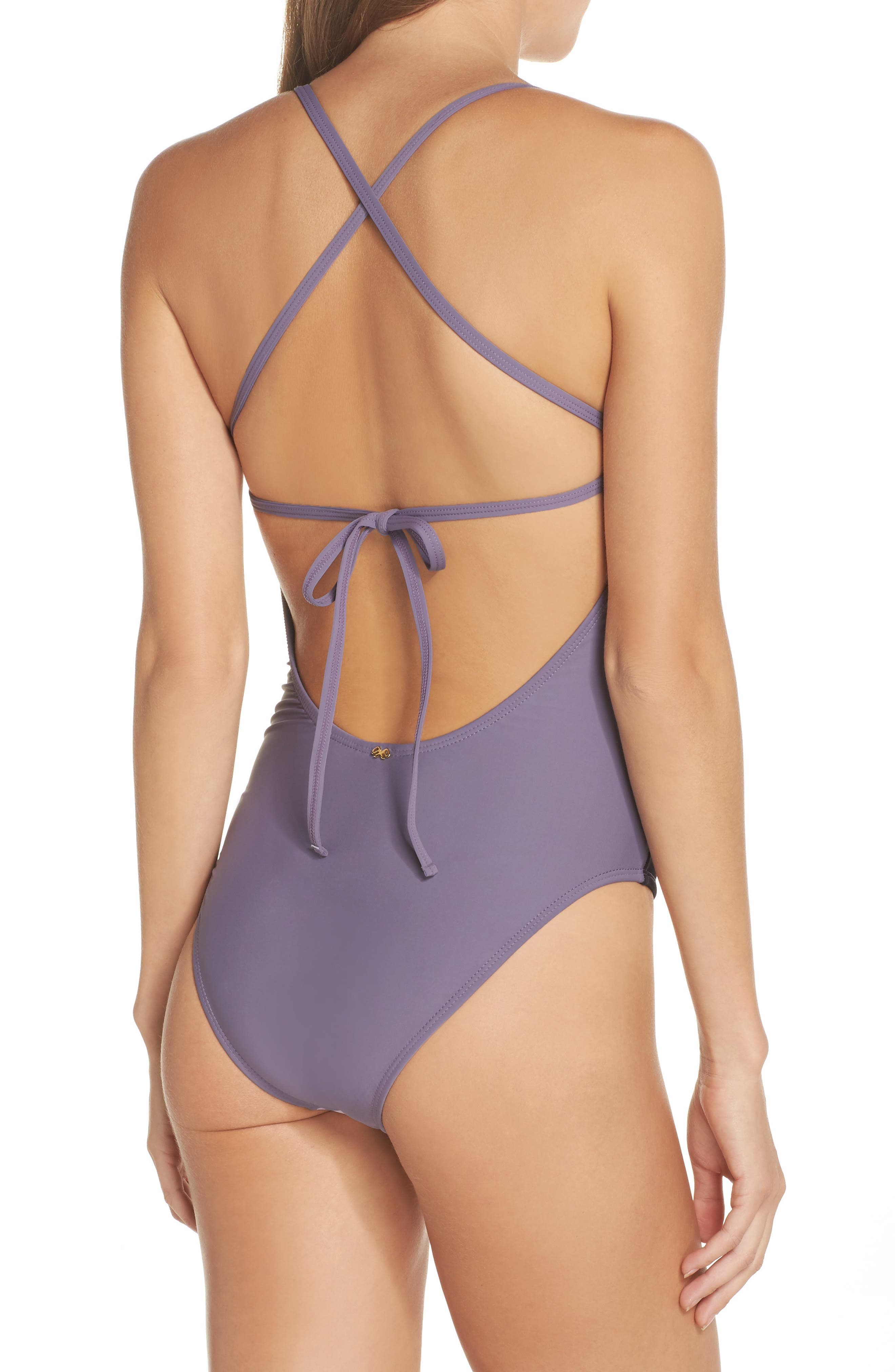 Farrah Colorblock One-Piece Swimsuit,                             Alternate thumbnail 2, color,                             539