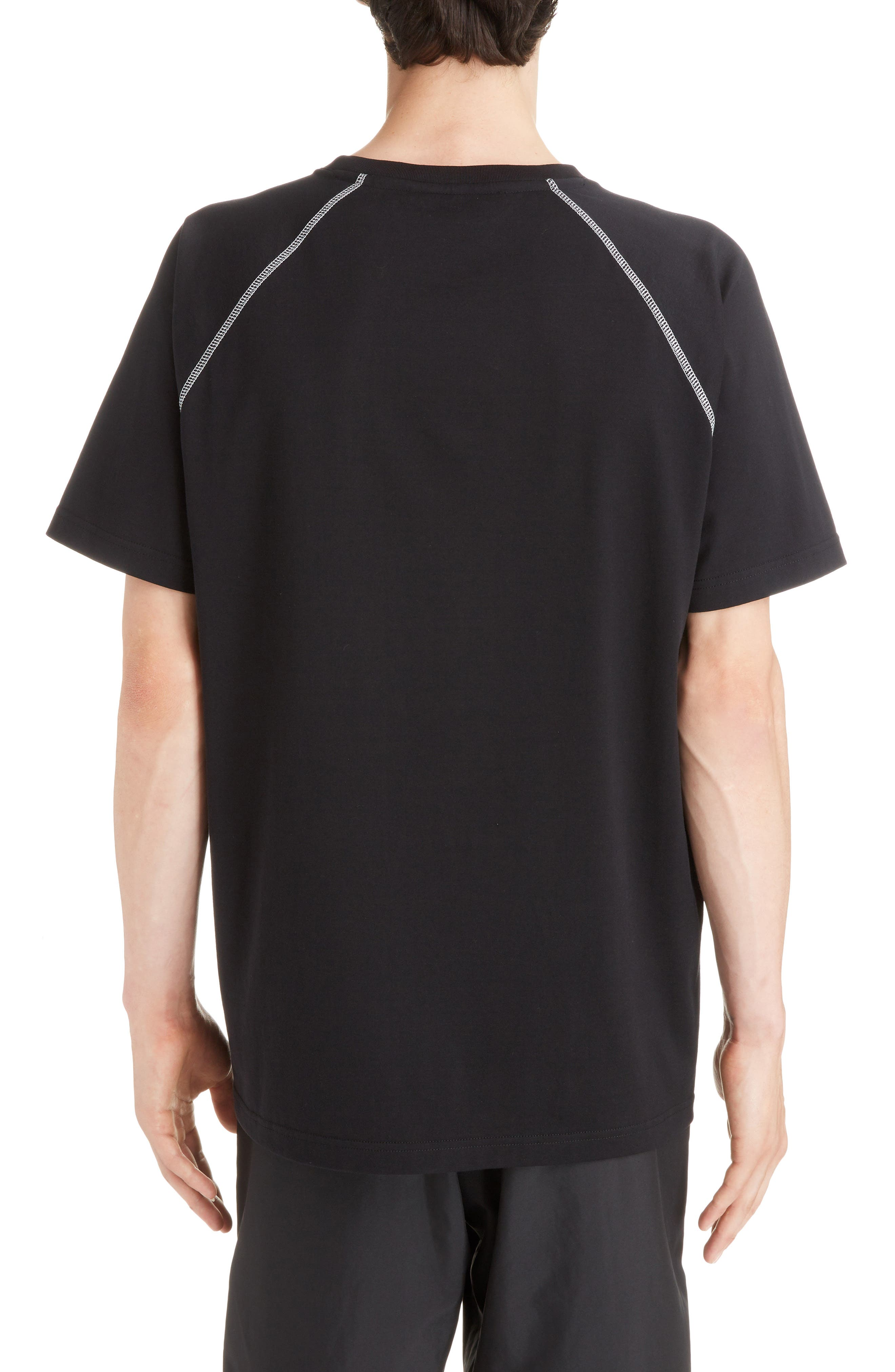 Chevron Stitch T-Shirt,                             Alternate thumbnail 2, color,                             BLACK