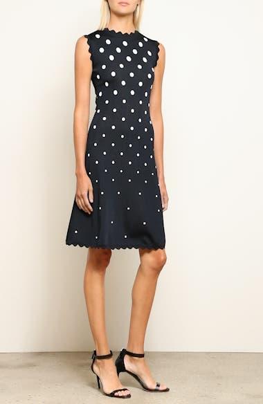 Scallop Edge Polka Dot A-Line Dress, video thumbnail