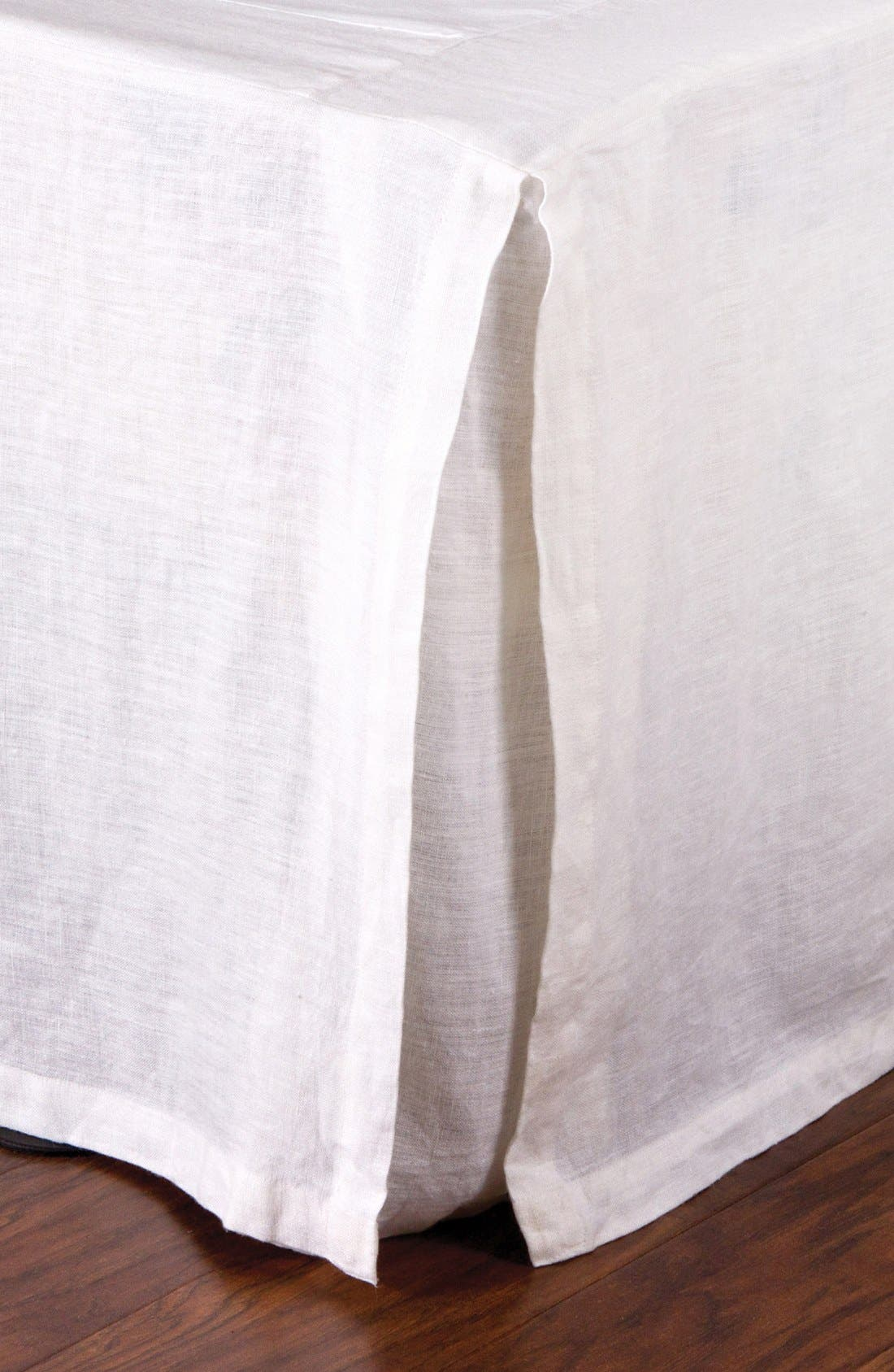 Pleated Linen Bed Skirt,                             Main thumbnail 1, color,                             100