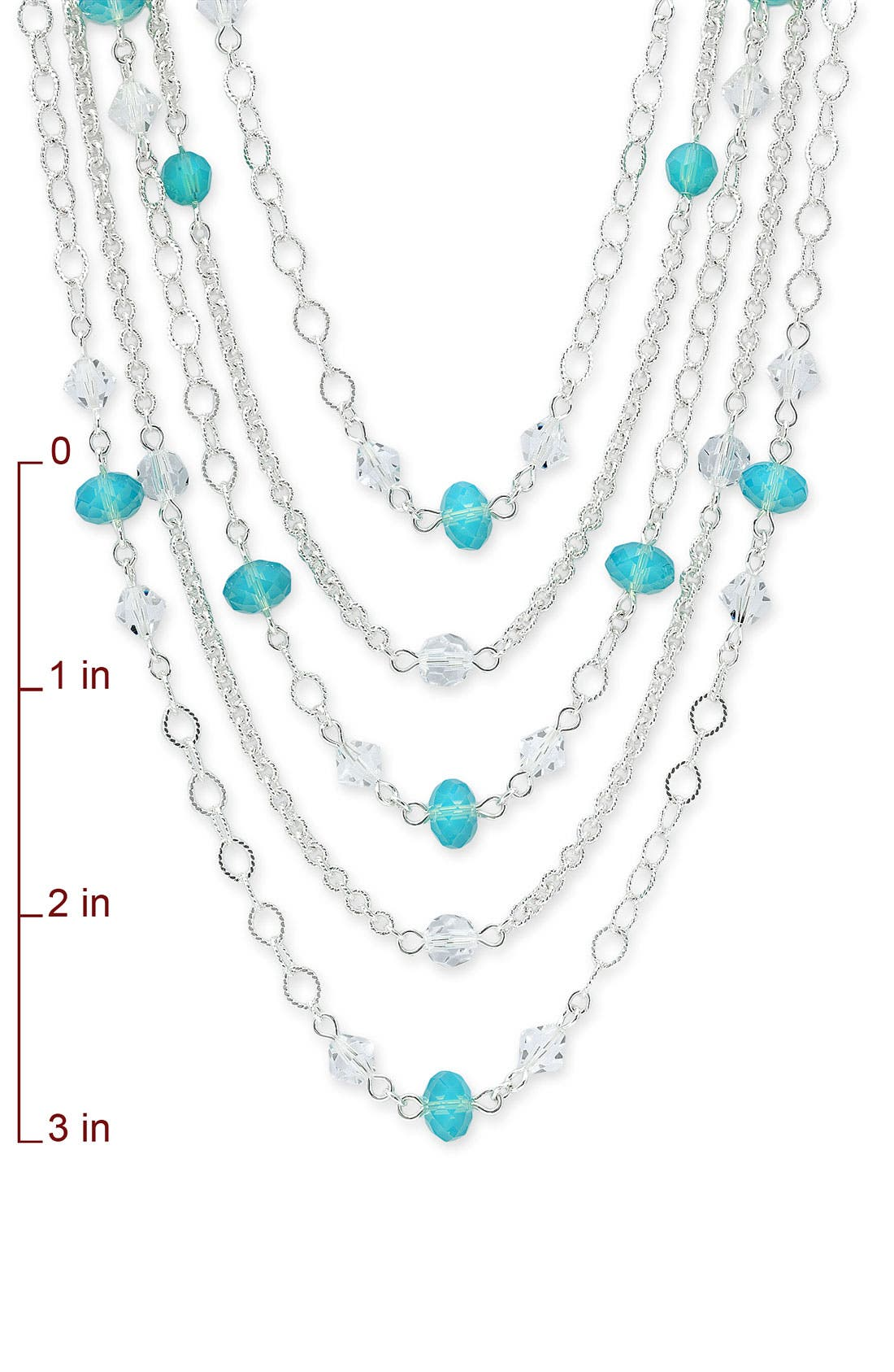 NORDSTROM,                             Crystal Collection Layered Crystal Necklace,                             Alternate thumbnail 2, color,                             040