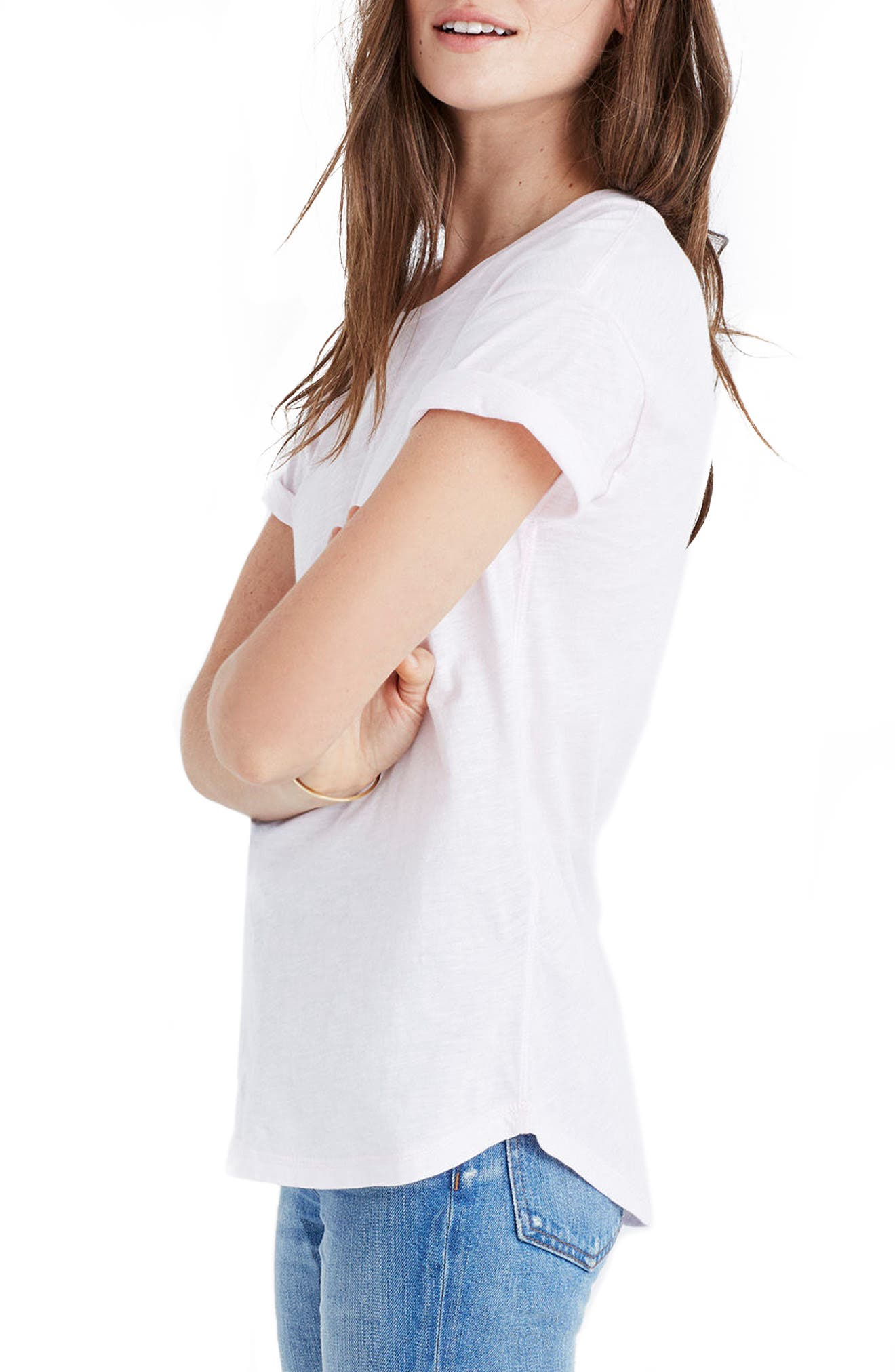 Whisper Cotton V-Neck Pocket Tee,                             Alternate thumbnail 162, color,