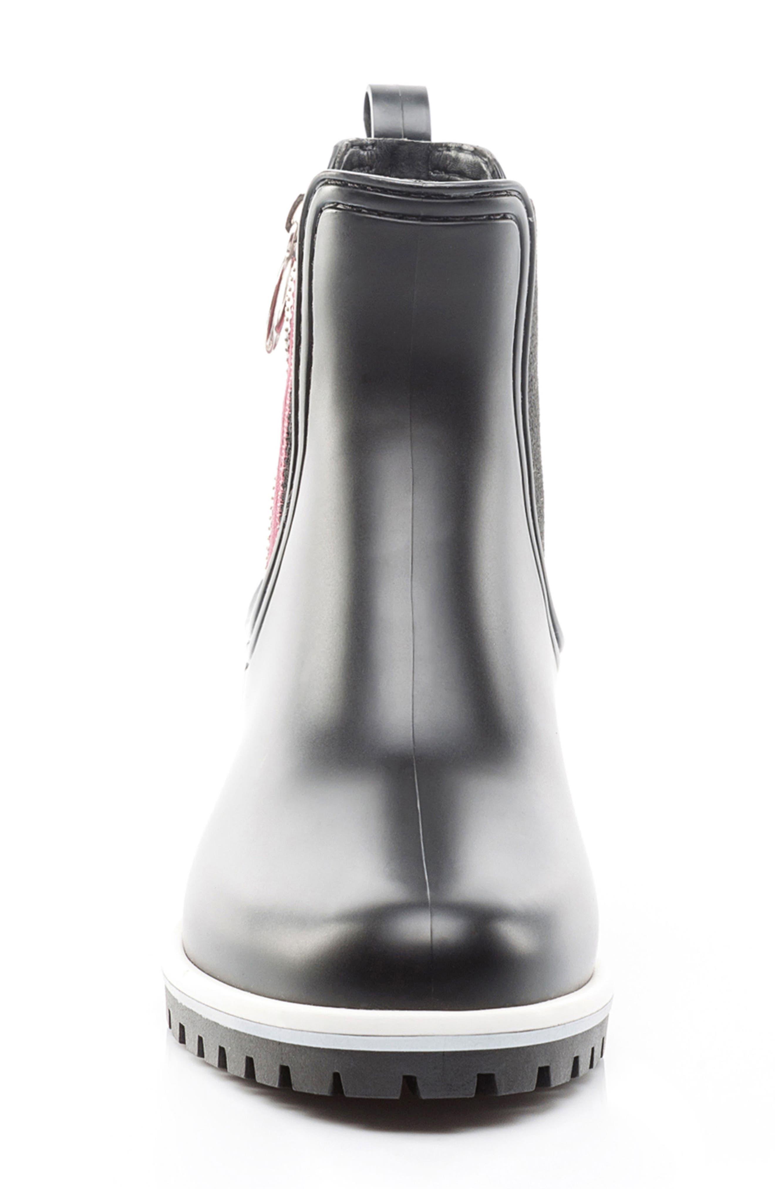 Zip Rain Boot,                             Alternate thumbnail 4, color,                             001