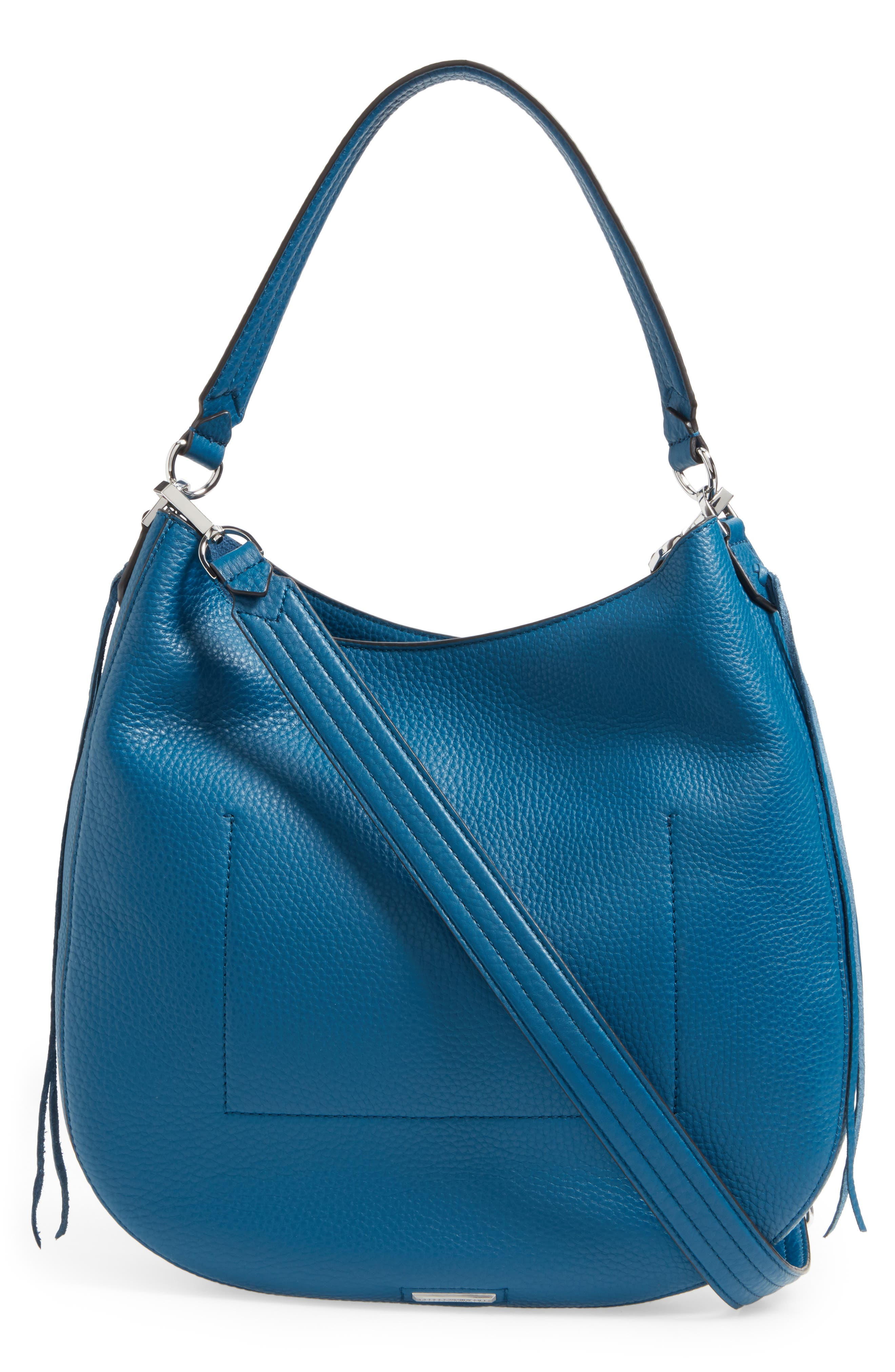 Unlined Convertible Whipstitch Hobo,                             Alternate thumbnail 19, color,