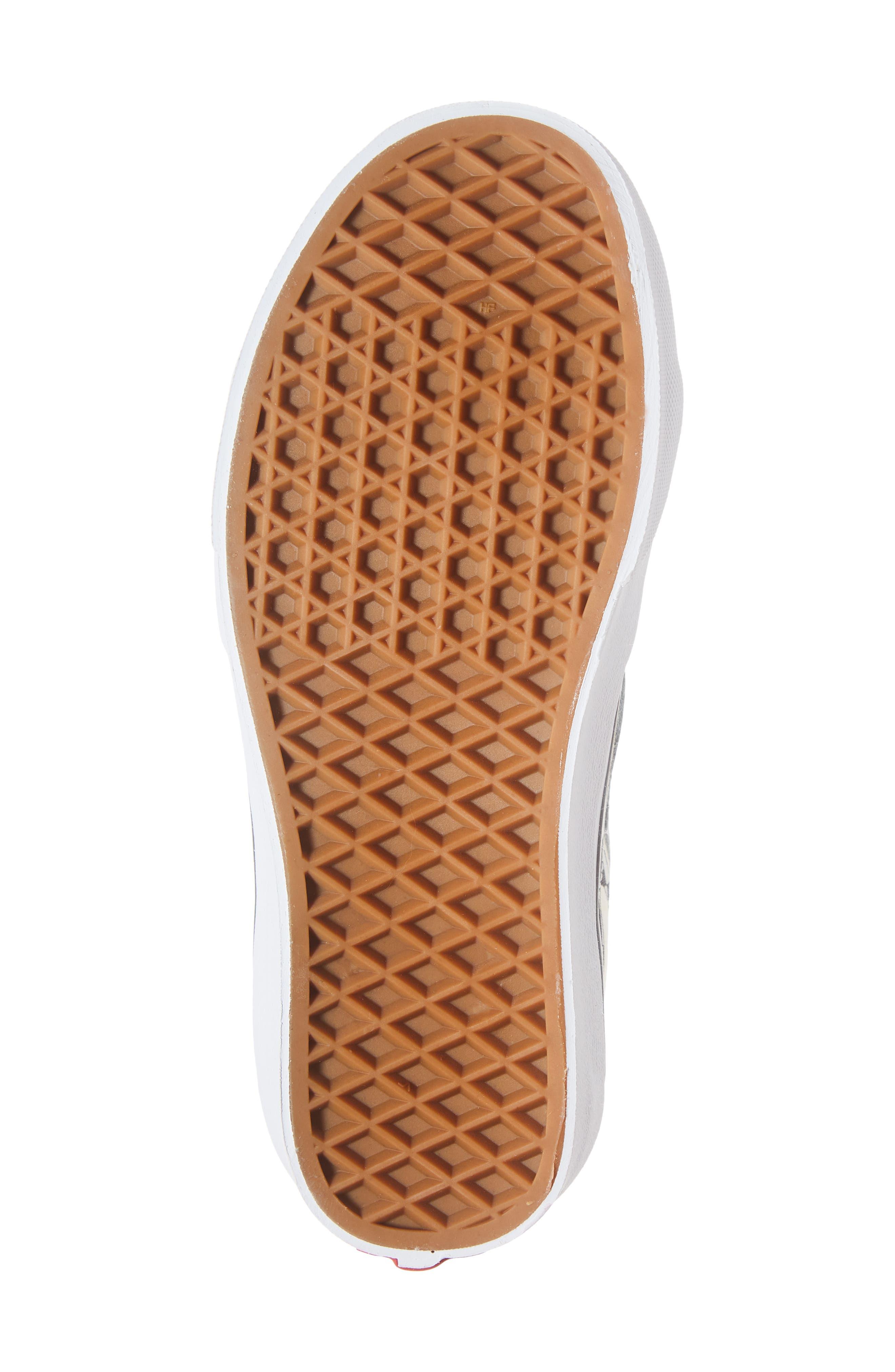 Sk8-Hi Checker Sneaker,                             Alternate thumbnail 6, color,                             CLASSIC WHITE/ TRUE WHITE