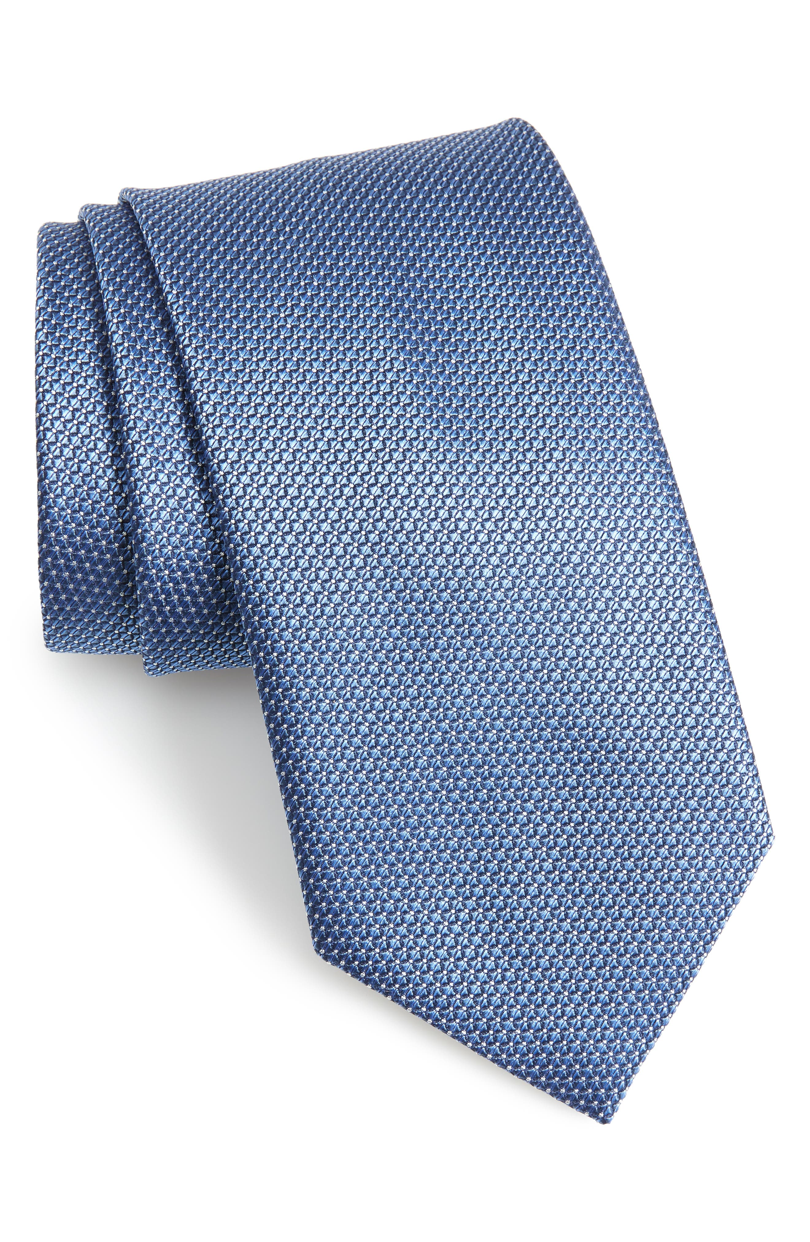 Geometric Silk Tie,                         Main,                         color, 490