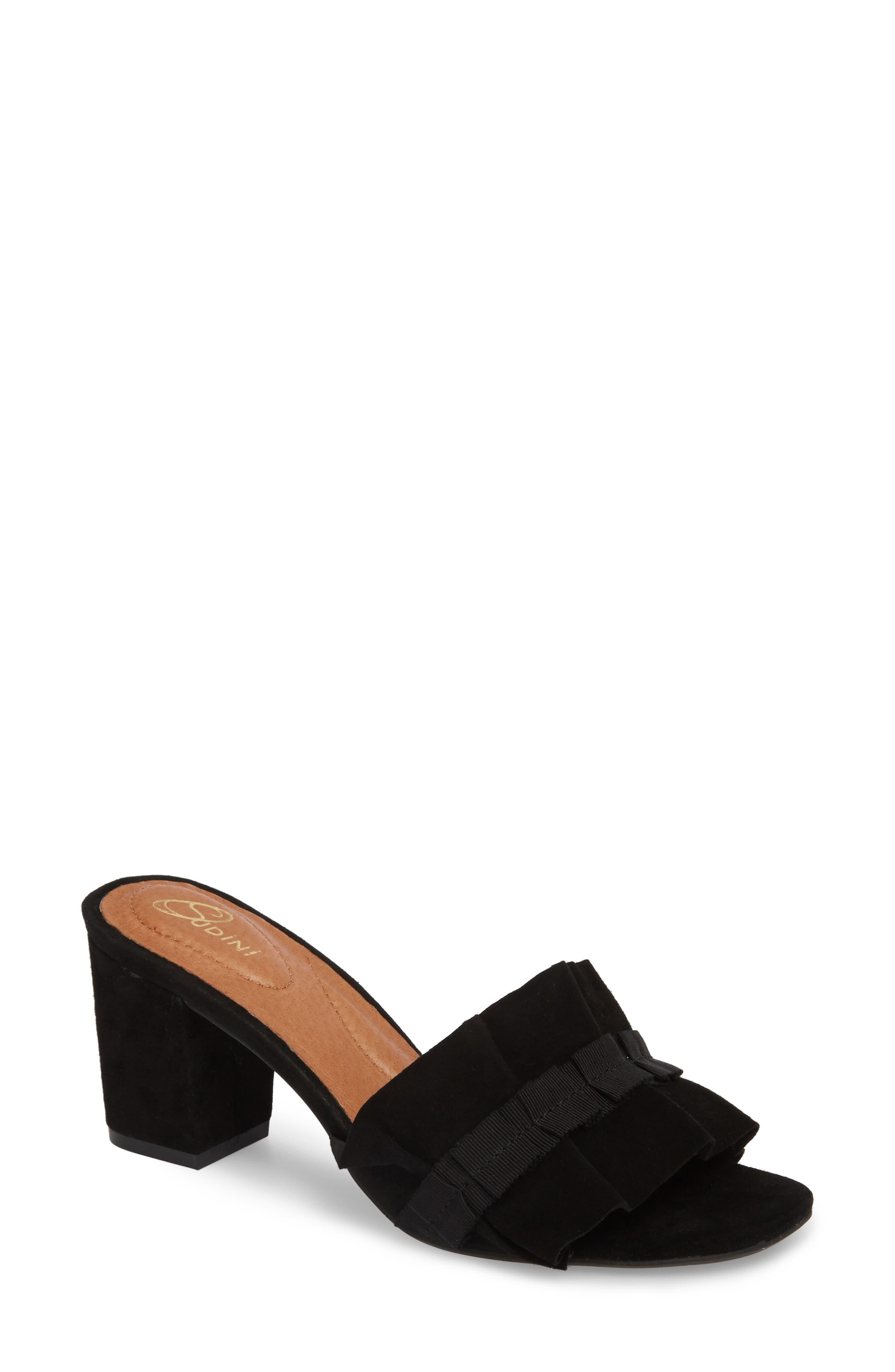 Nea Sandal, Main, color, BLACK SUEDE