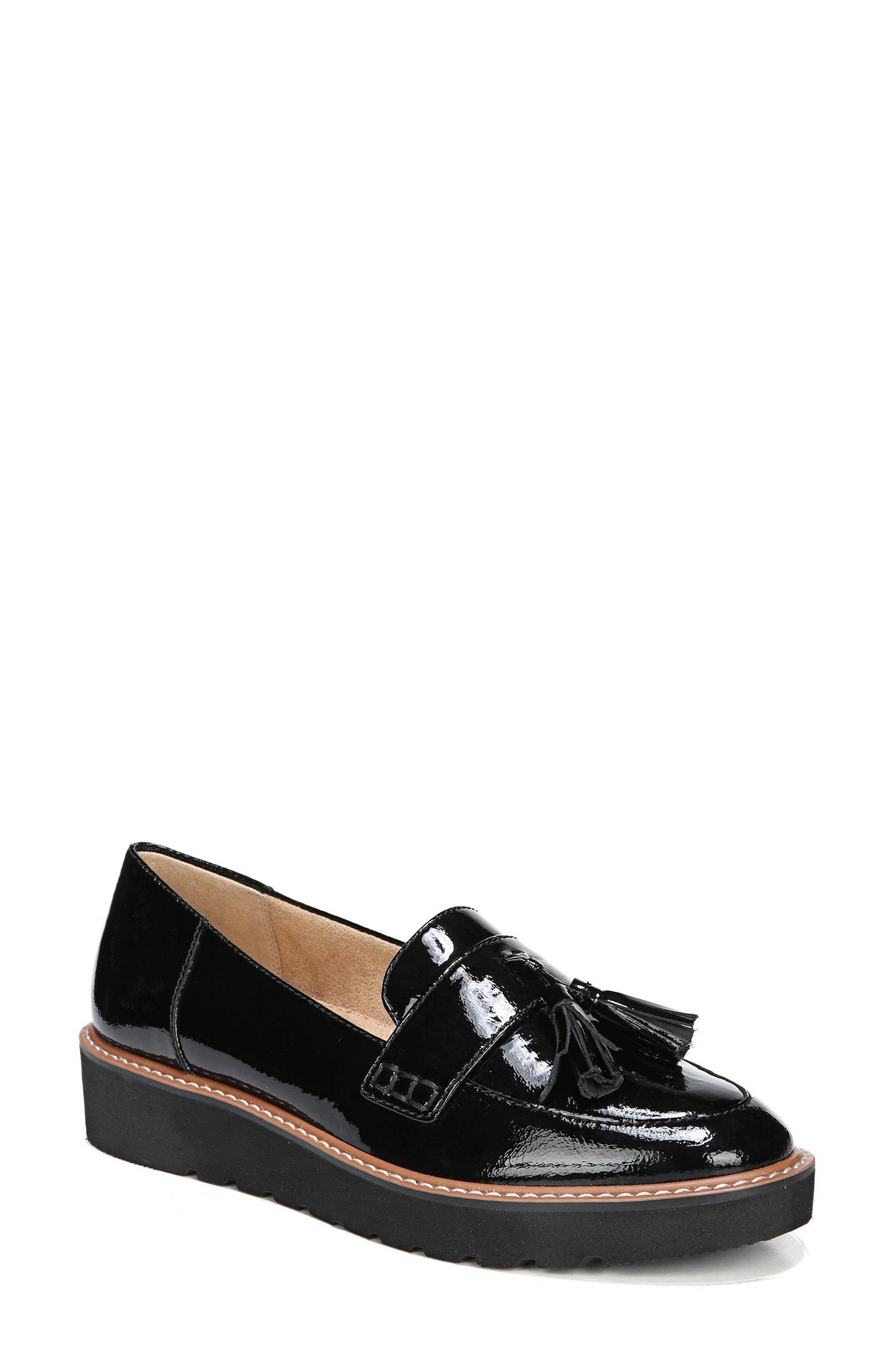 August Loafer,                         Main,                         color, BLACK PATENT LEATHER