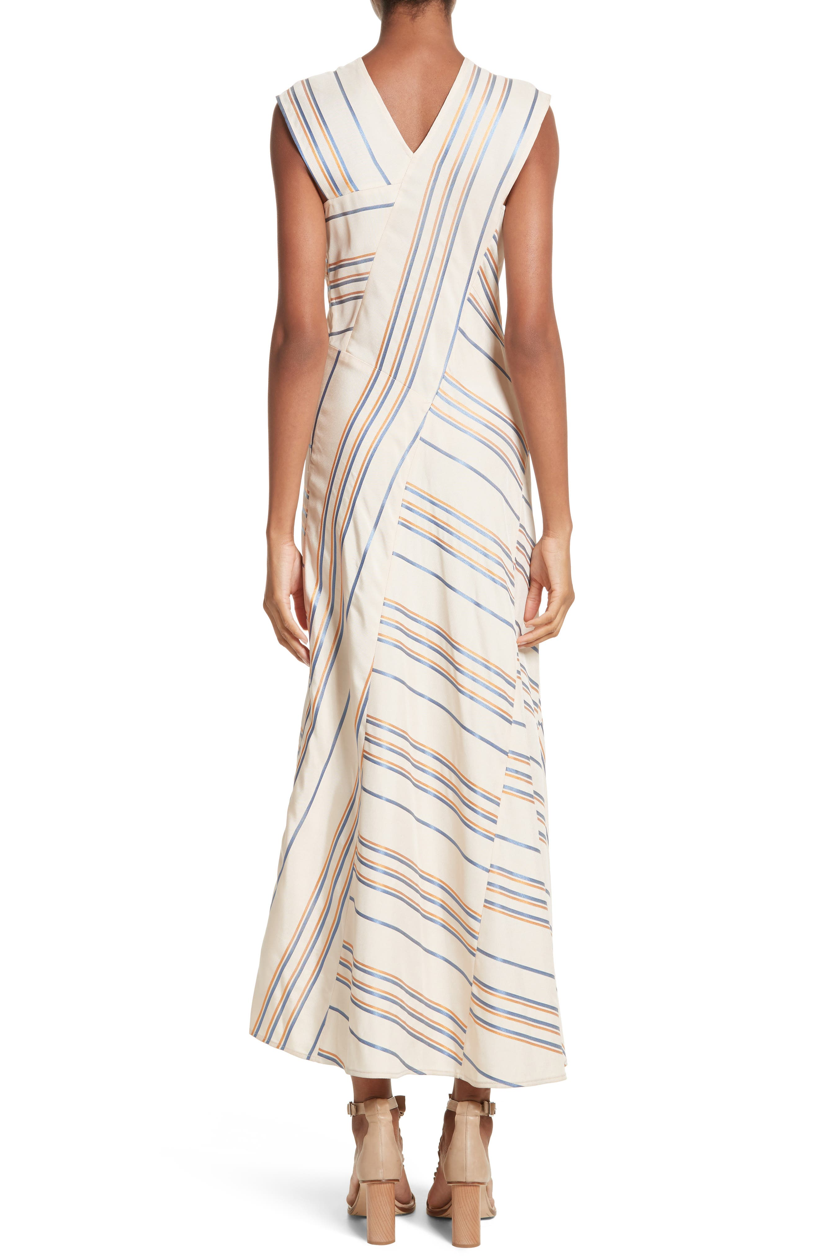 Stripe Midi Dress,                             Alternate thumbnail 2, color,                             901