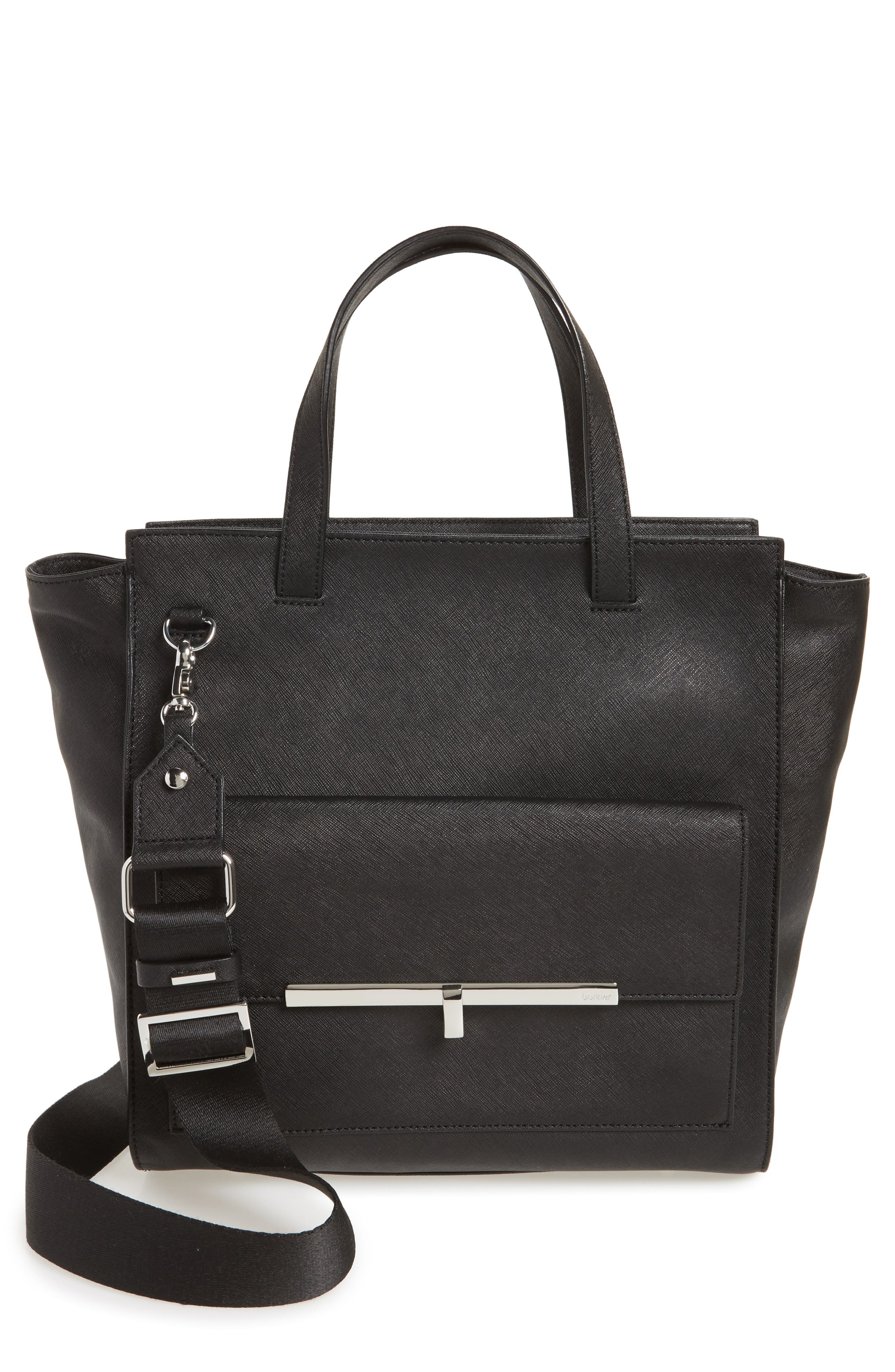Jagger Leather Tote,                         Main,                         color, 001