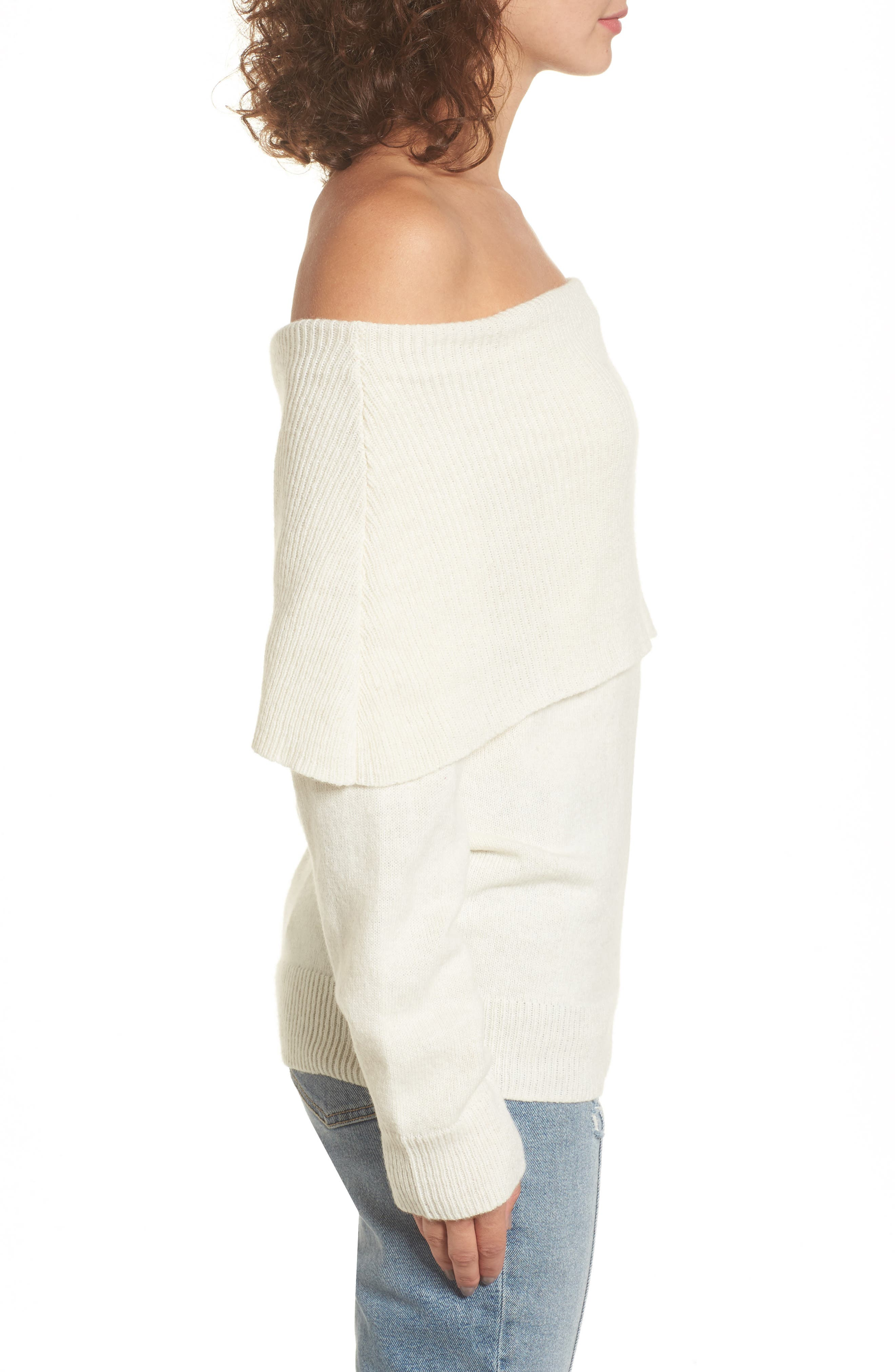 Off the Shoulder Sweater,                             Alternate thumbnail 3, color,                             900