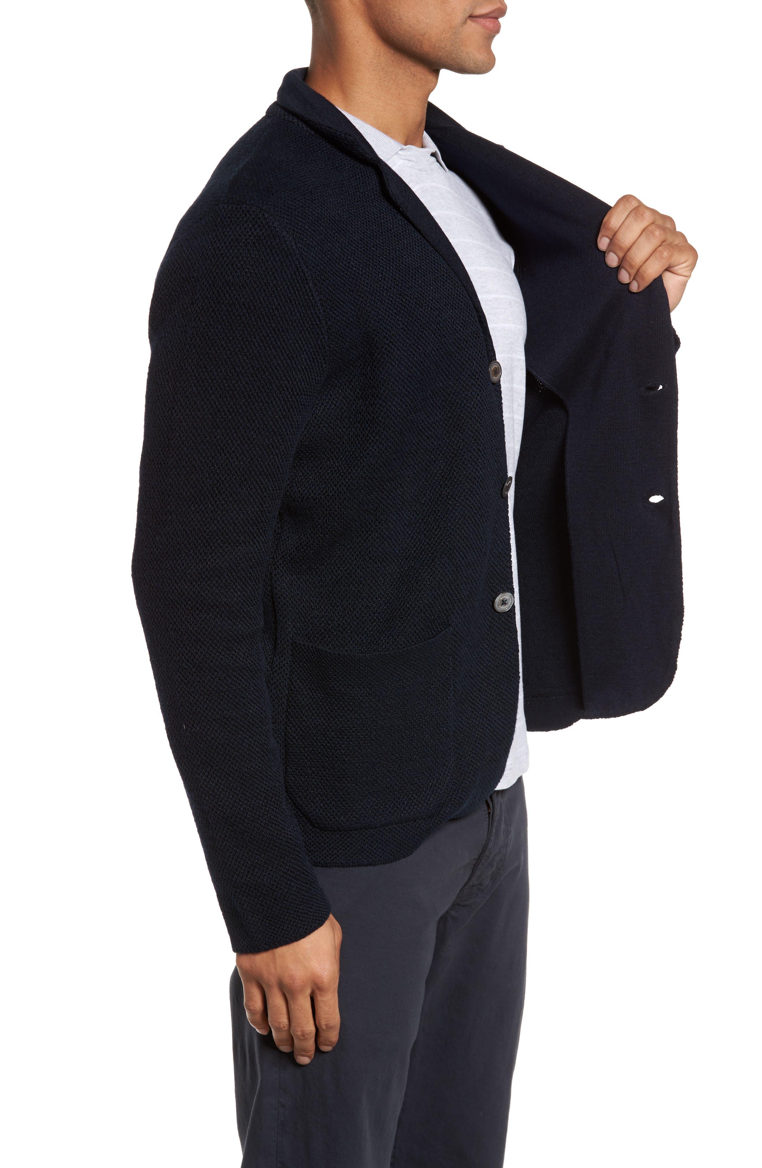 Linen & Cotton Cardigan,                             Alternate thumbnail 3, color,                             400