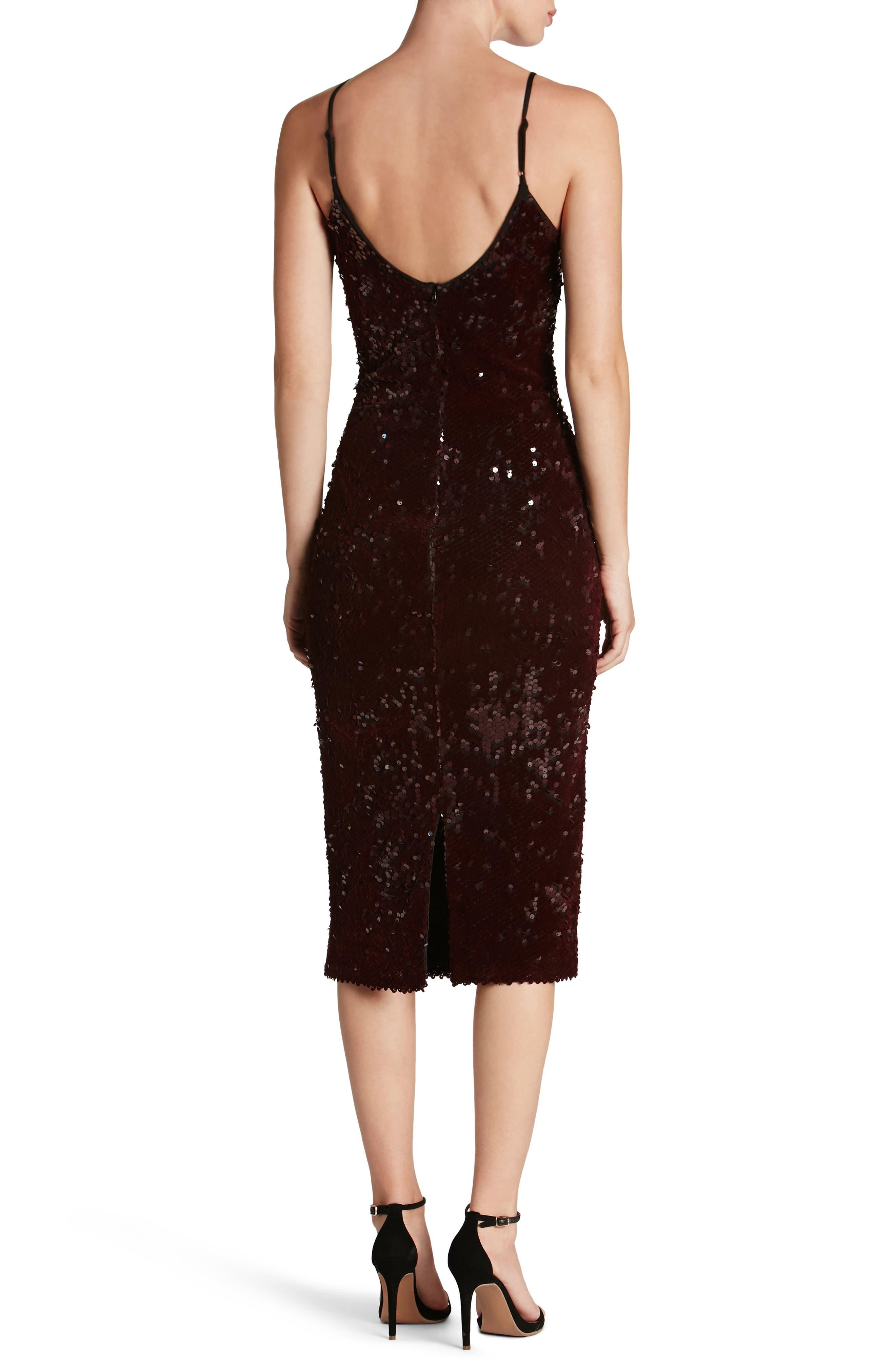 Nina Sequin Velvet Body-Con Dress,                             Alternate thumbnail 6, color,