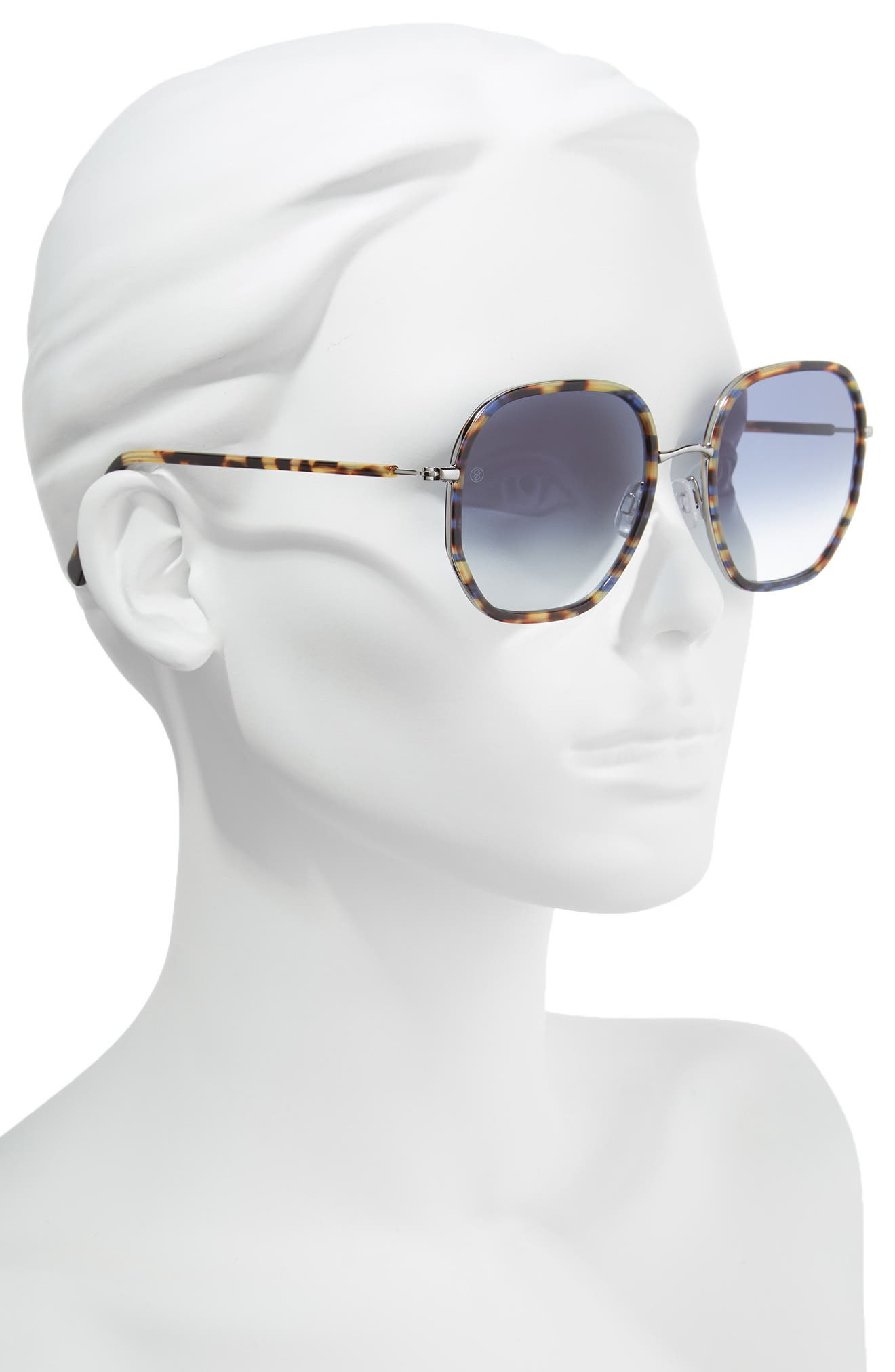 D'BLANC Rare Fortune 59mm Sunglasses,                             Alternate thumbnail 2, color,                             INDIGO TORTOISE