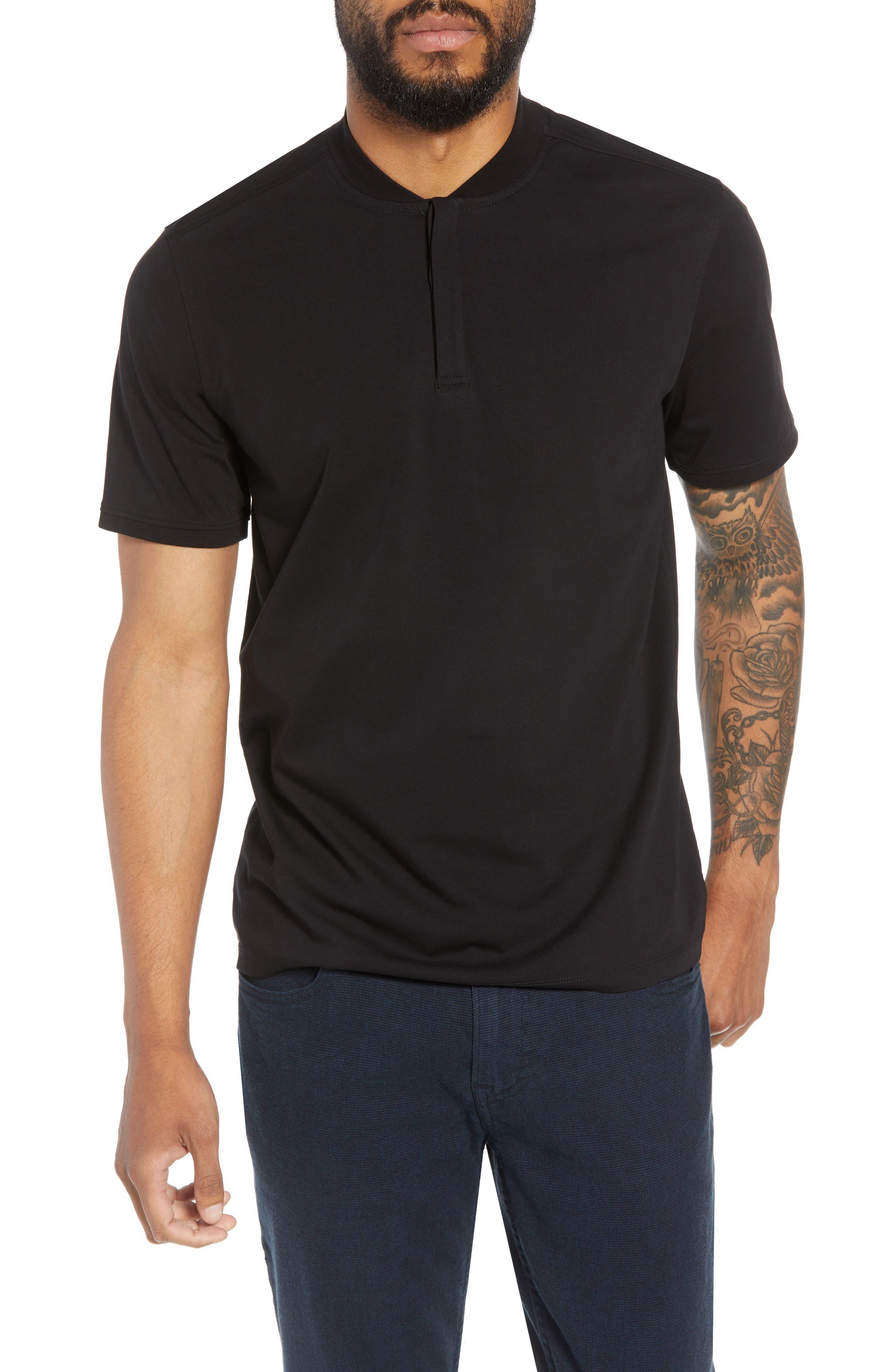 Trim Fit Henley T-Shirt,                             Main thumbnail 1, color,                             001