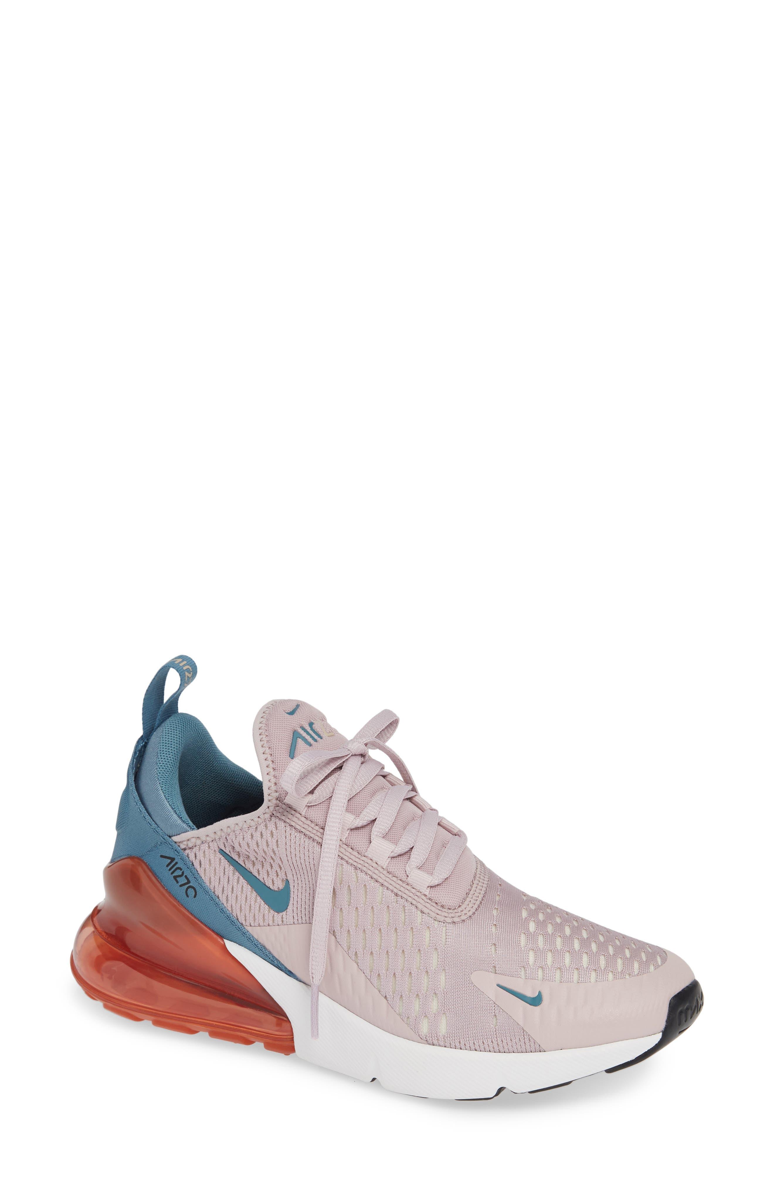 Air Max 270 Premium Sneaker,                             Main thumbnail 1, color,                             PARTICLE ROSE/ CELESTIAL TEAL