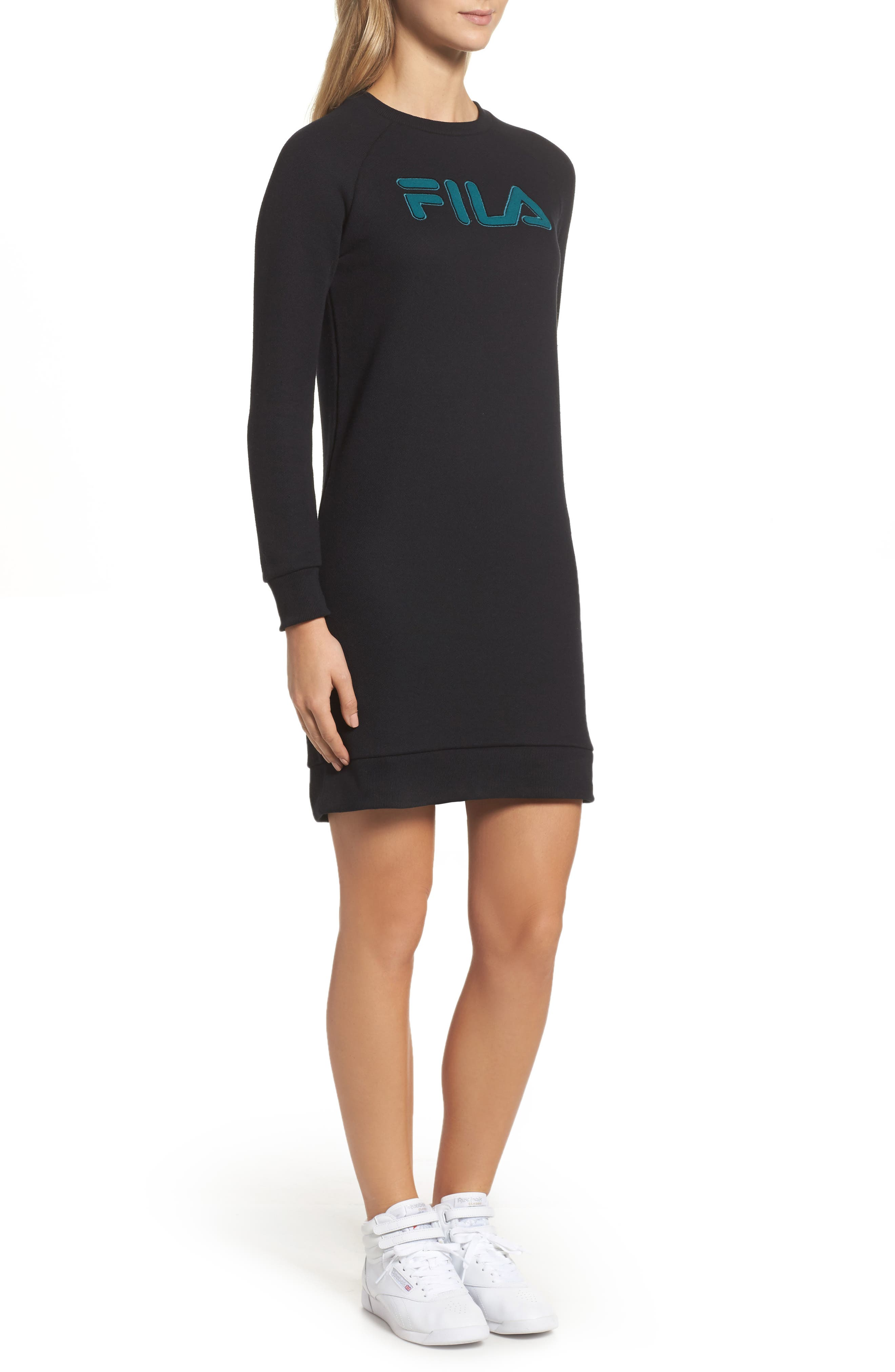 Courtney Sweatshirt Dress,                             Alternate thumbnail 3, color,                             001
