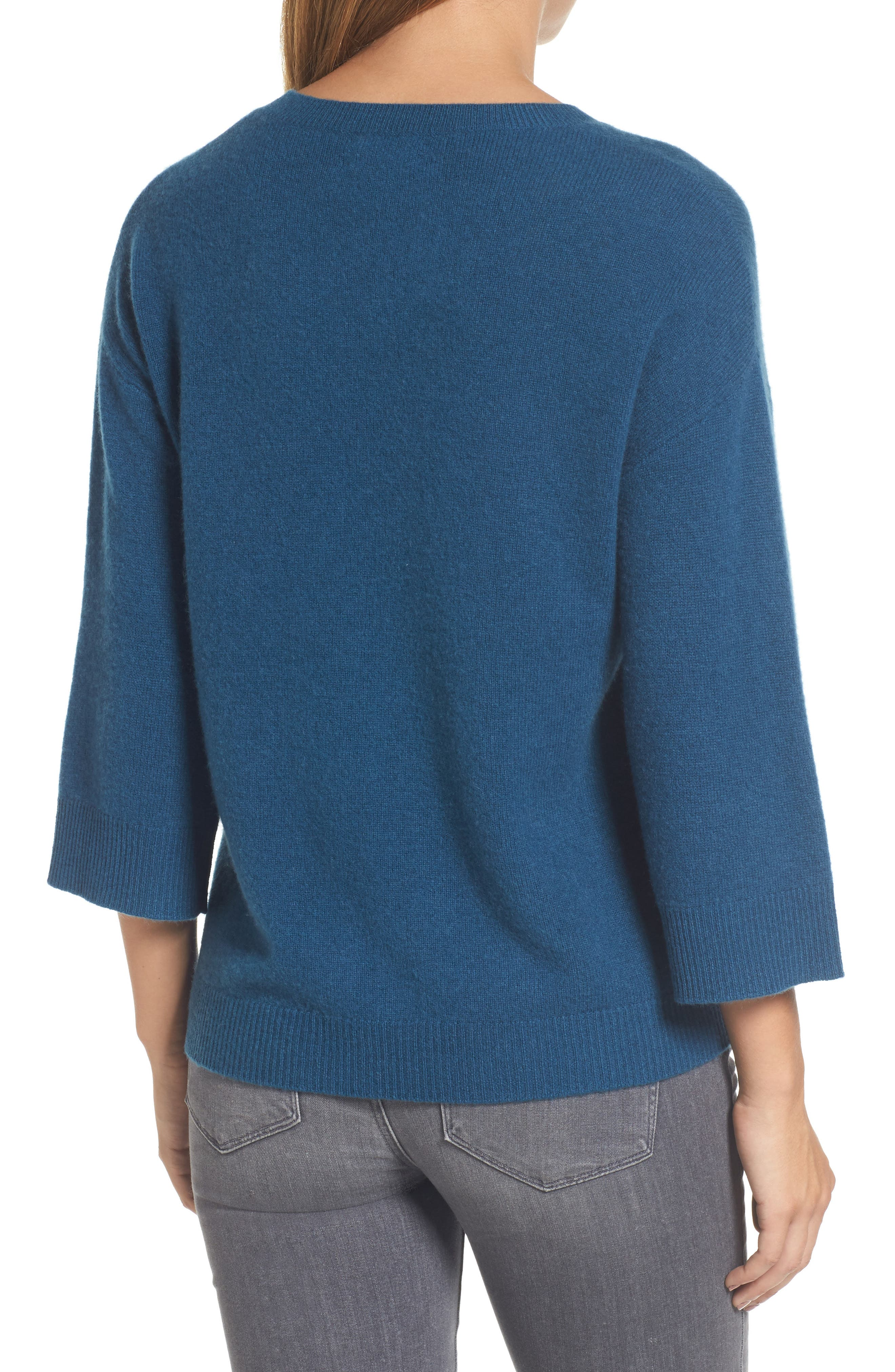 Side Tie Wool and Cashmere Sweater,                             Alternate thumbnail 9, color,