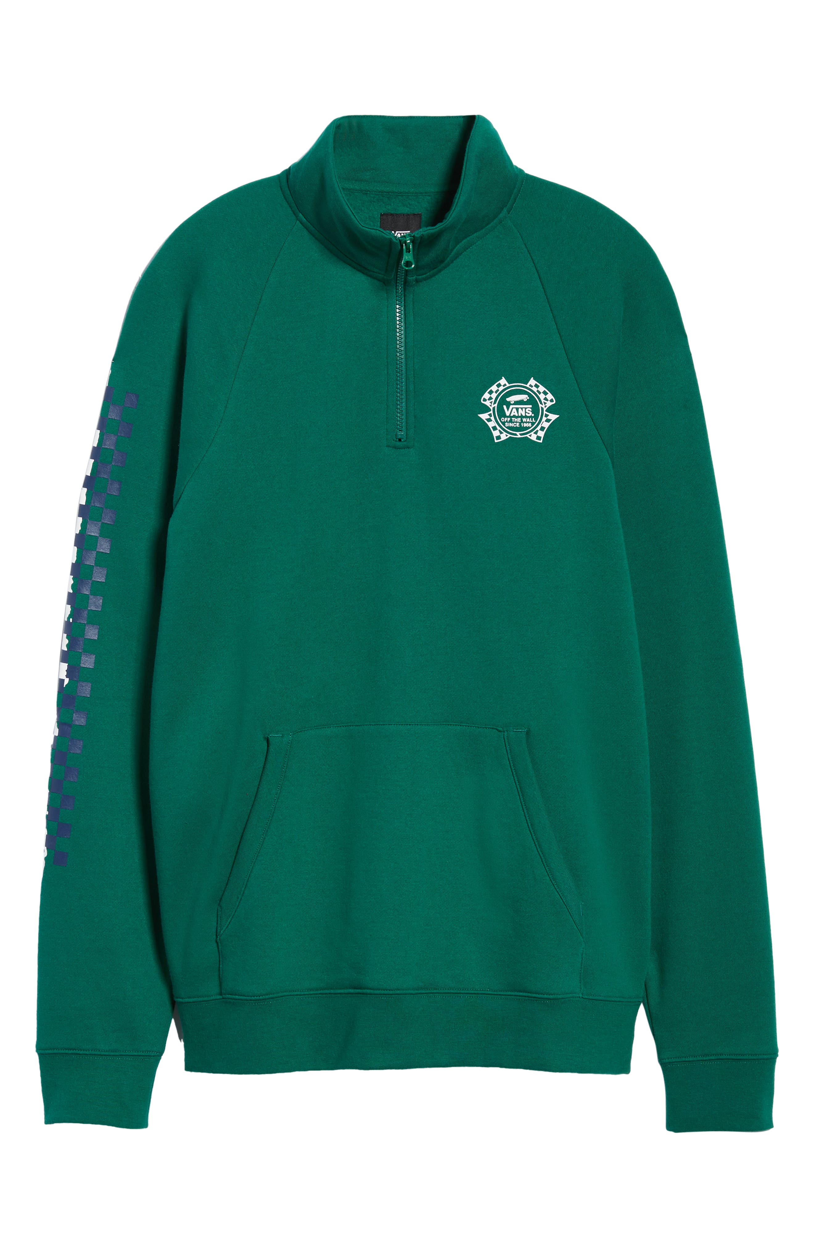 Check It Quarter Zip Pullover,                             Alternate thumbnail 6, color,                             EVERGREEN