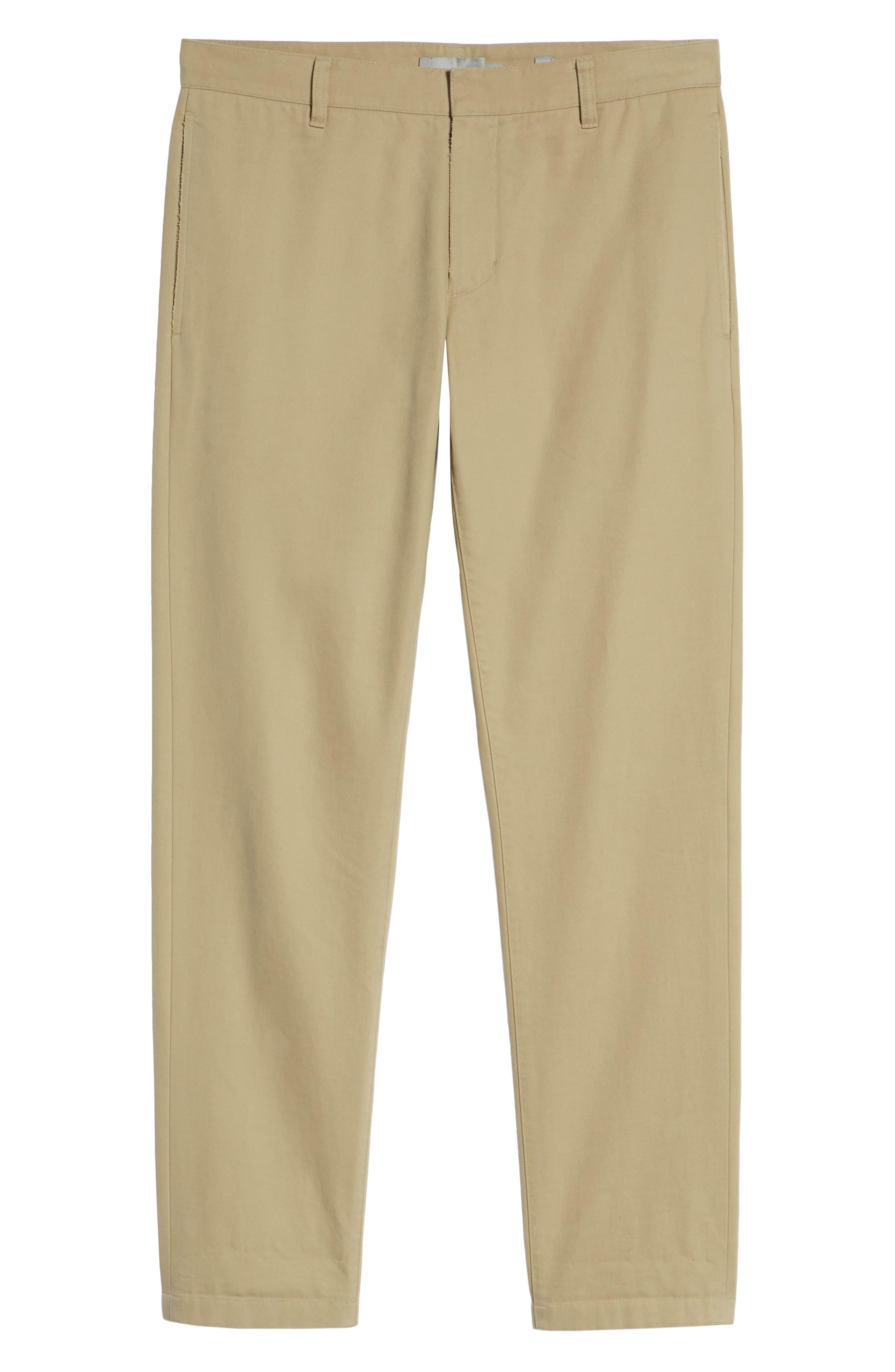 Flat Front Chino Pants,                             Alternate thumbnail 6, color,                             250