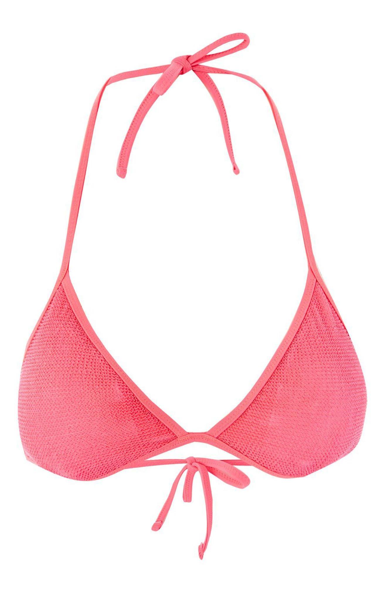 Shirred Triangle Bikini Top,                             Alternate thumbnail 3, color,                             650