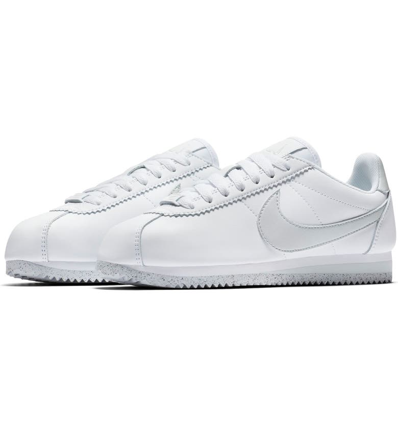 new arrival a3e1a a48d1 NIKE Classic Cortez FlyLeather Sneaker, Main, color, 100