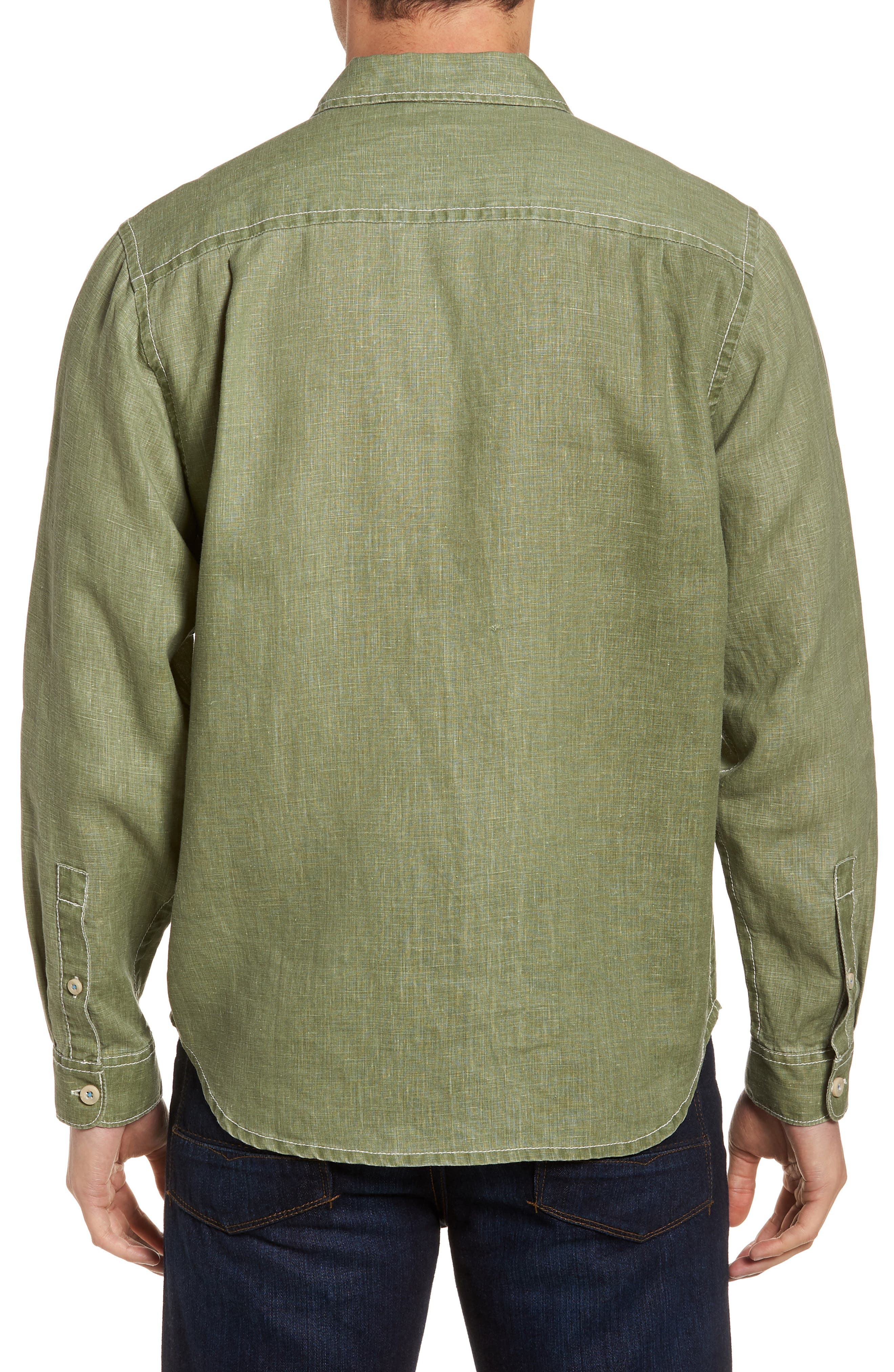 Sea Glass Breezer Linen Sport Shirt,                             Alternate thumbnail 2, color,                             304